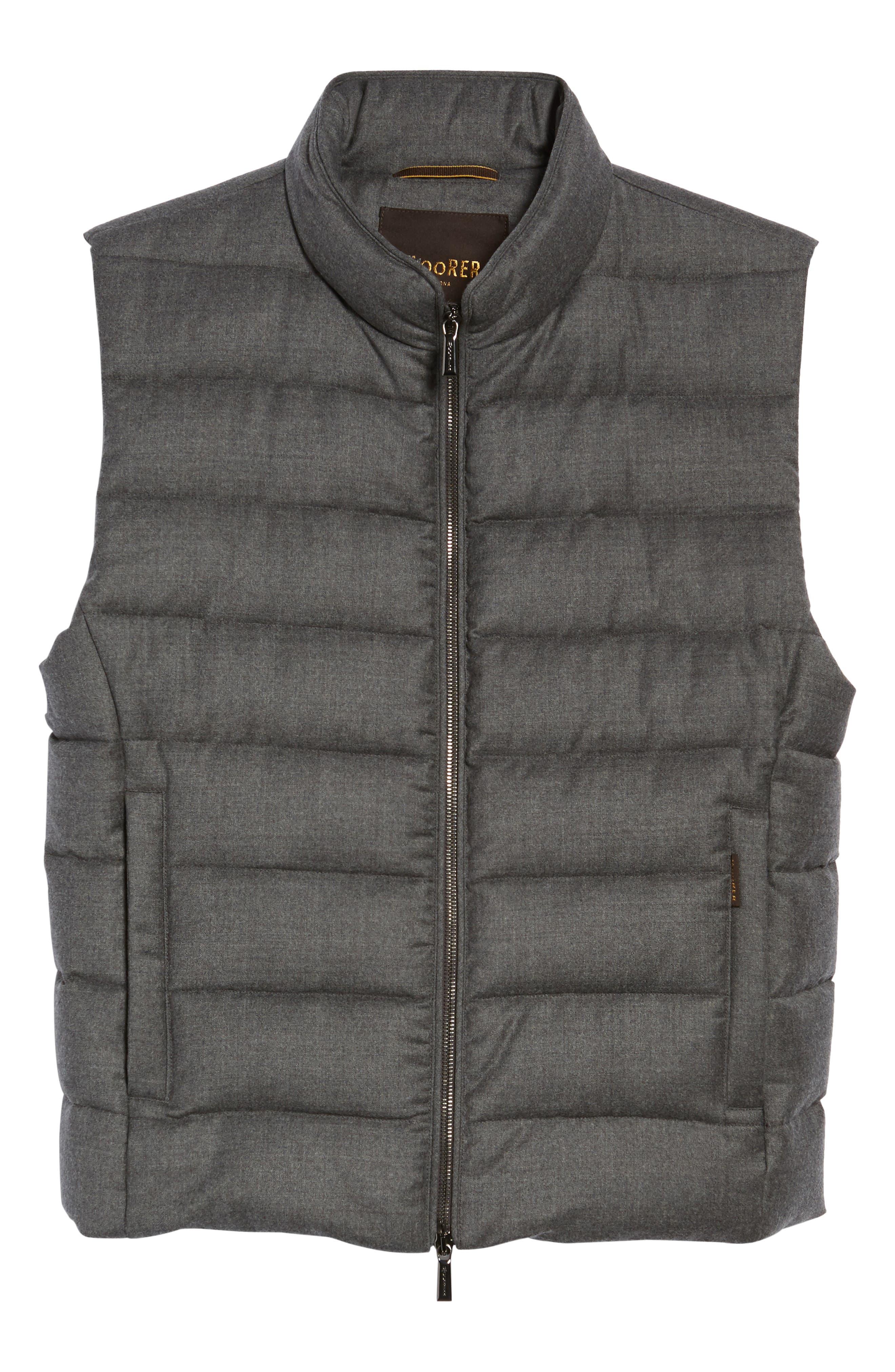 Oliver L Wool & Cashmere Flannel Waterproof Vest,                             Alternate thumbnail 5, color,                             030