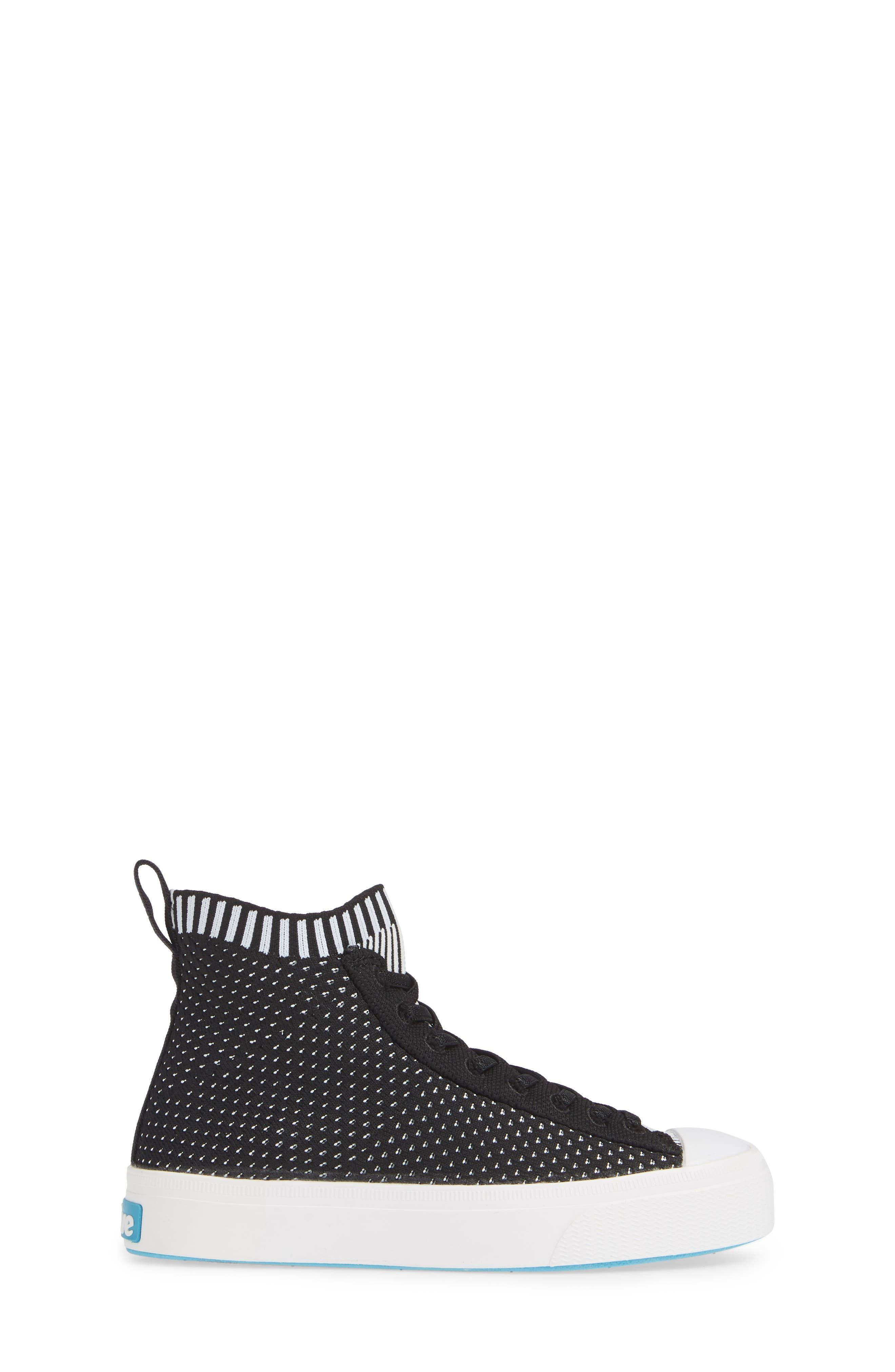 Jefferson 2.0 LiteKnit Vegan High Top Sneaker,                             Alternate thumbnail 3, color,                             JIFFY BLACK/ SHELL WHITE