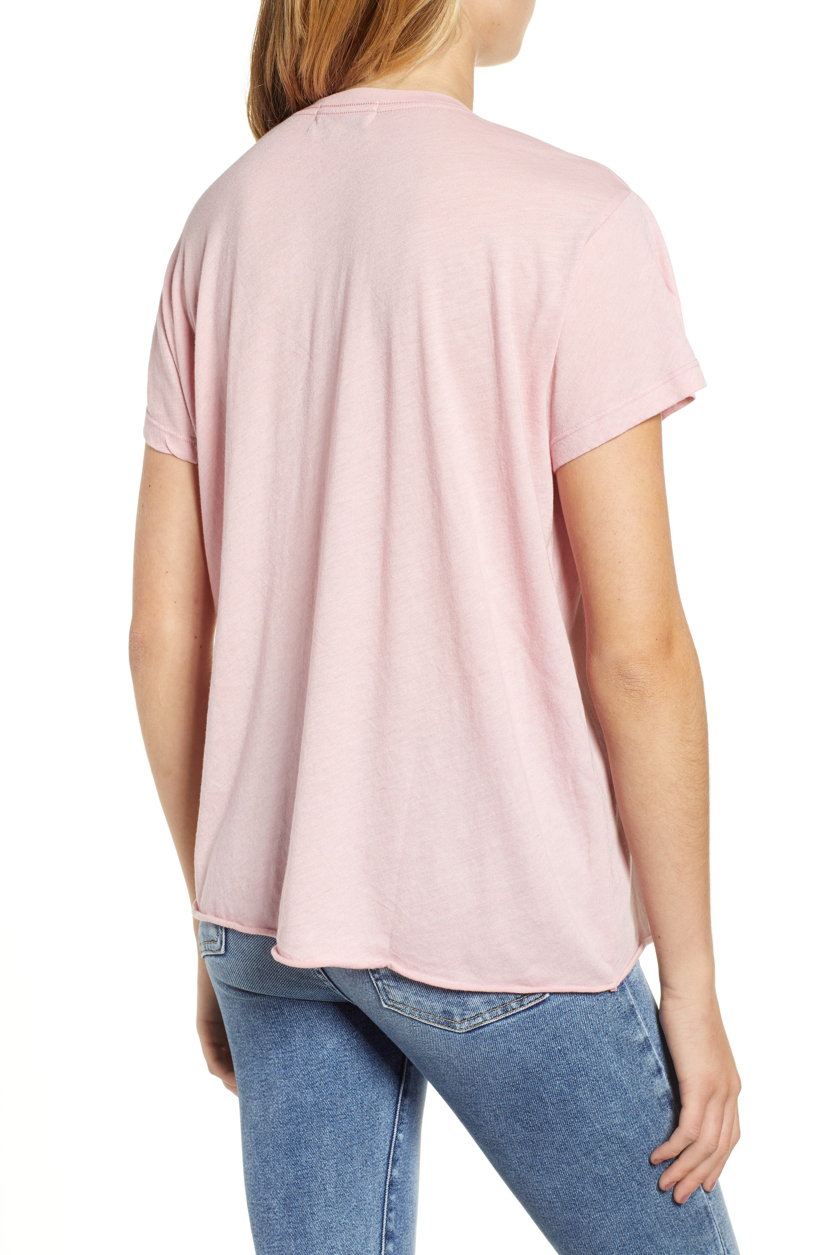 Romeo - Just Not Me V-Neck Tee,                             Alternate thumbnail 2, color,                             TAUPE ROSE