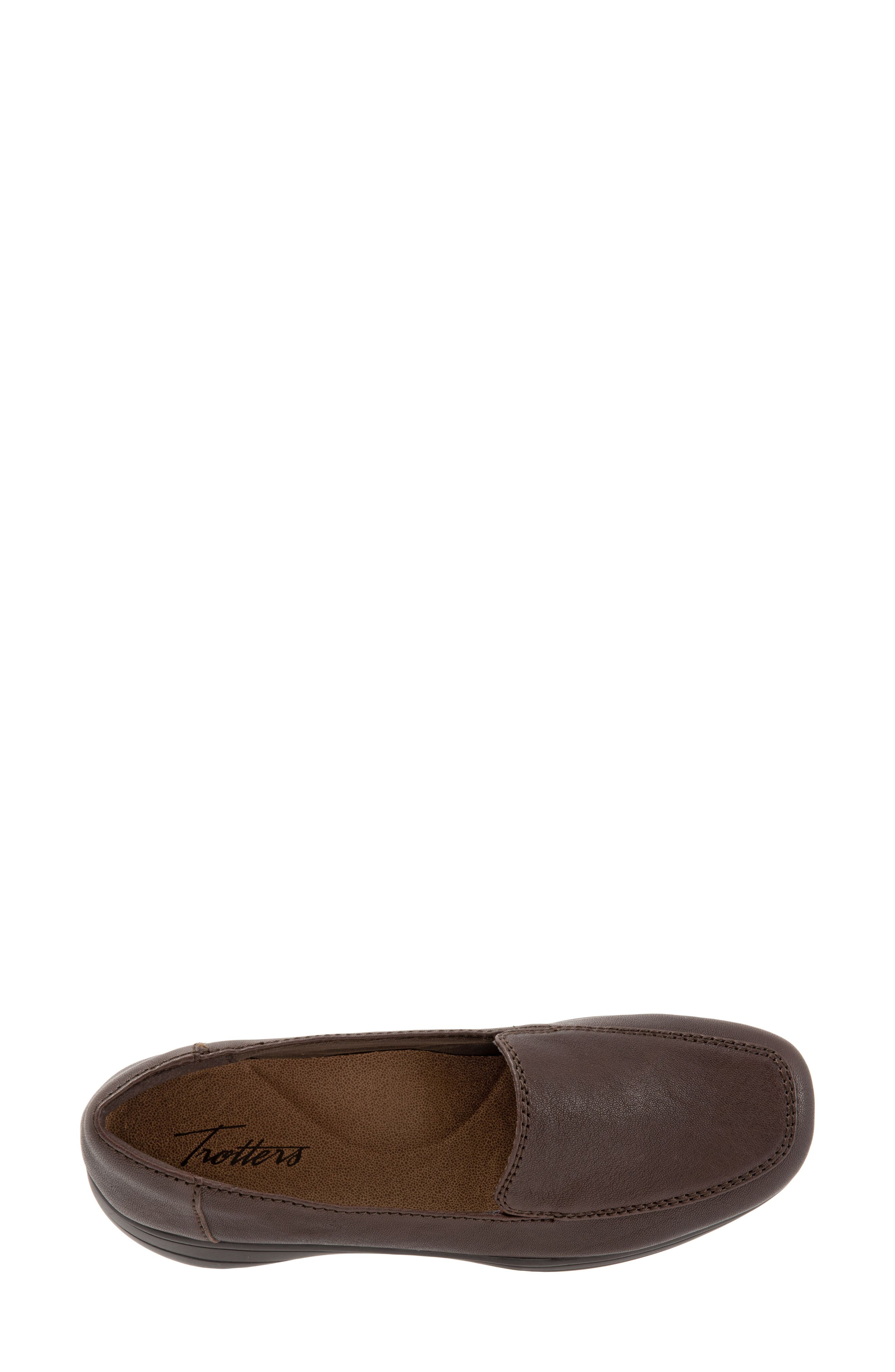 Jacob Loafer,                             Alternate thumbnail 5, color,                             DARK BROWN LEATHER