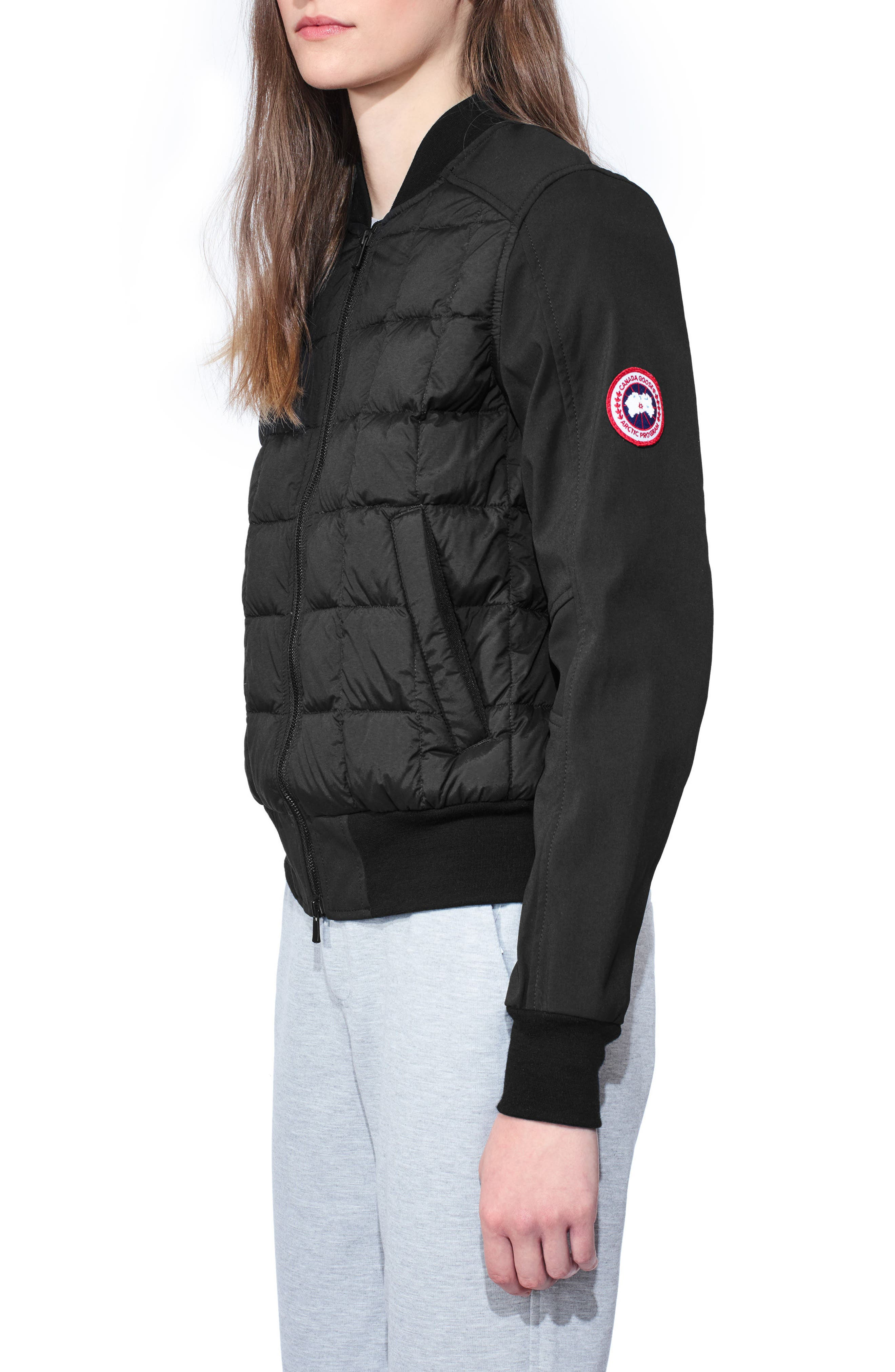 Hanley Down Bomber Jacket,                             Alternate thumbnail 3, color,                             001