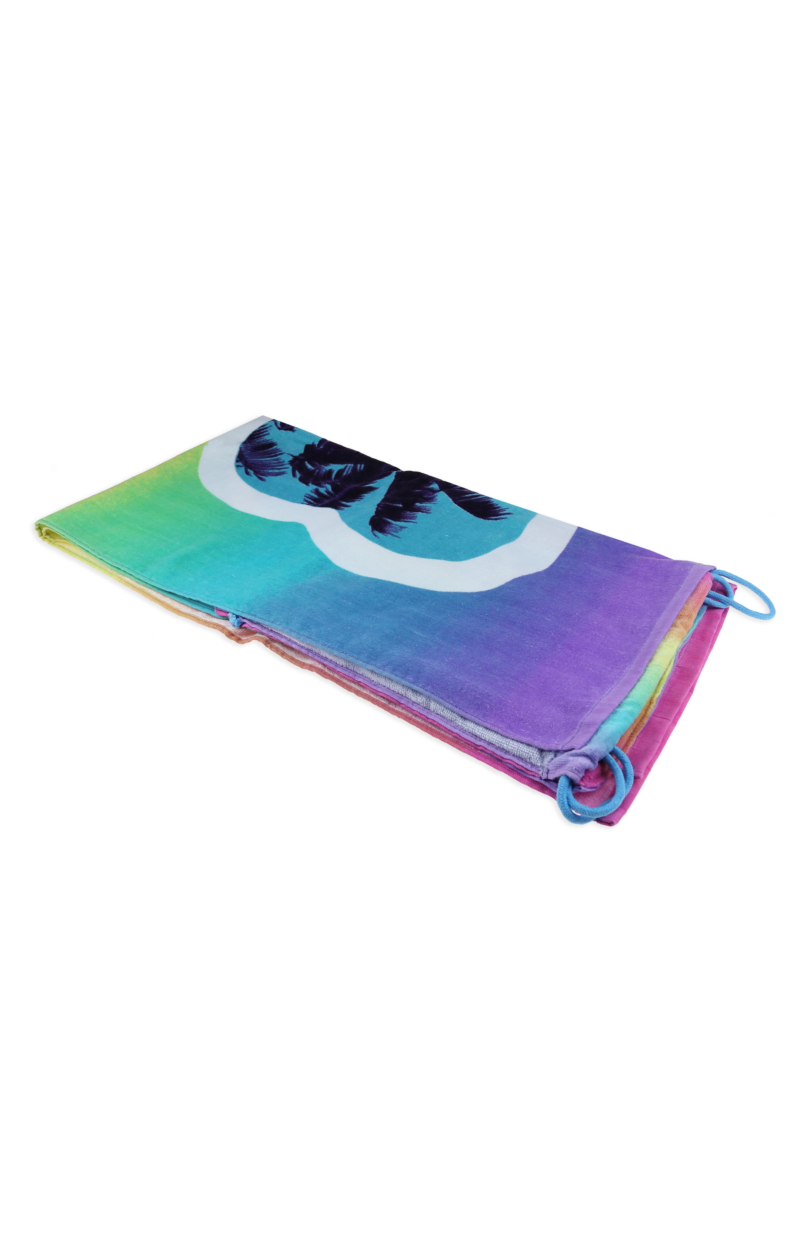 Heart Sunnies Towel Backpack,                             Alternate thumbnail 7, color,                             475