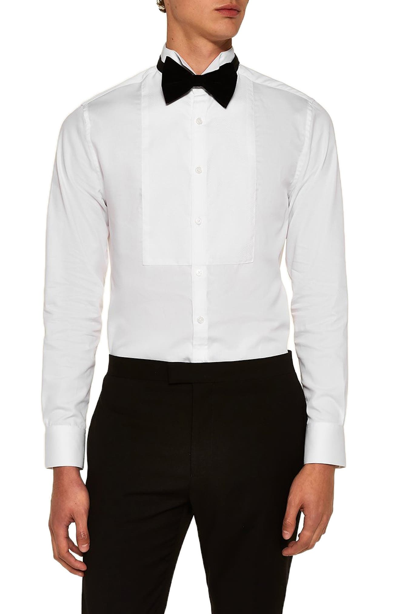 Wing Collar Classic Shirt,                             Main thumbnail 1, color,                             WHITE