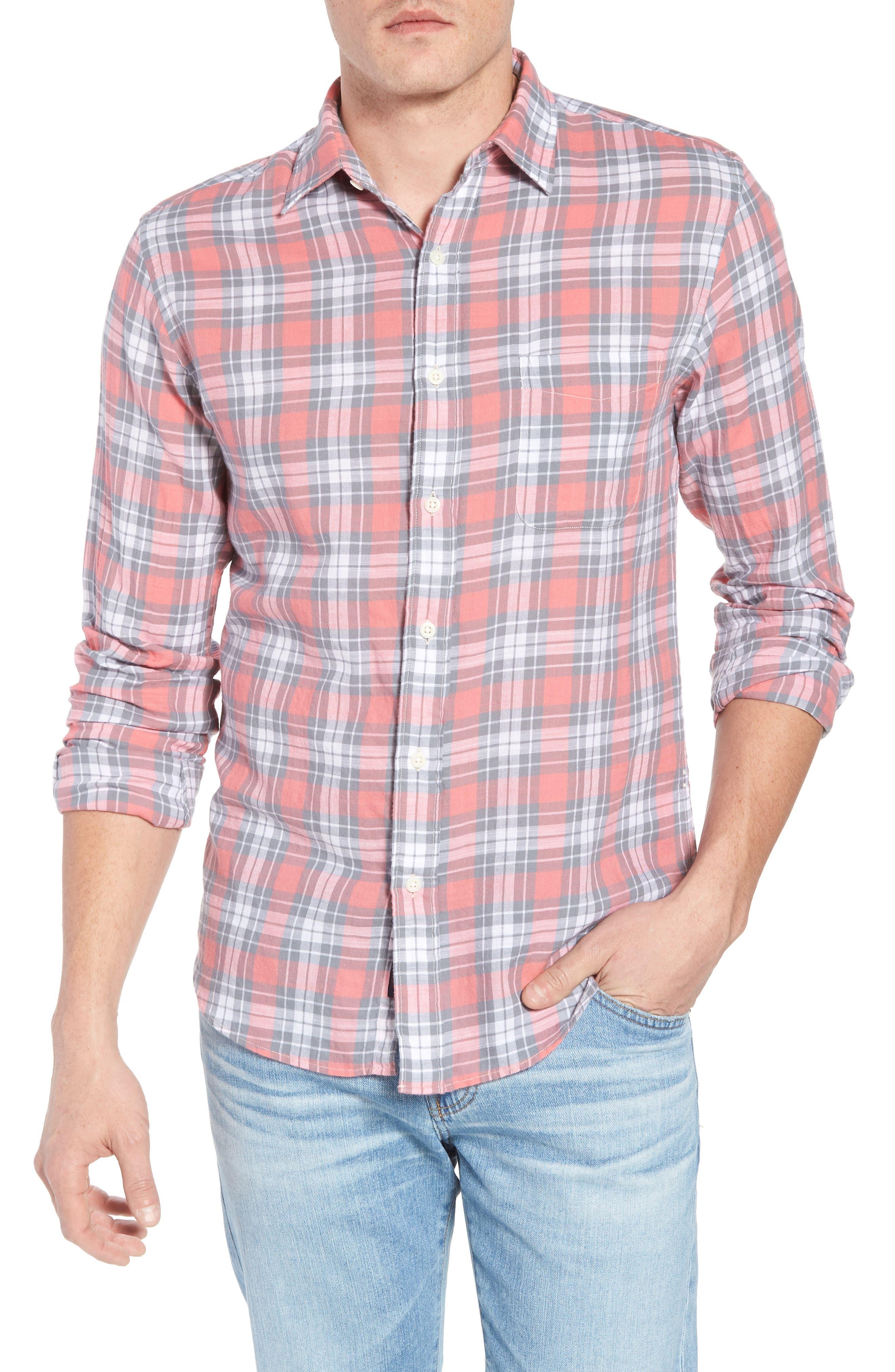 Ventura Plaid Sport Shirt,                         Main,                         color, 600