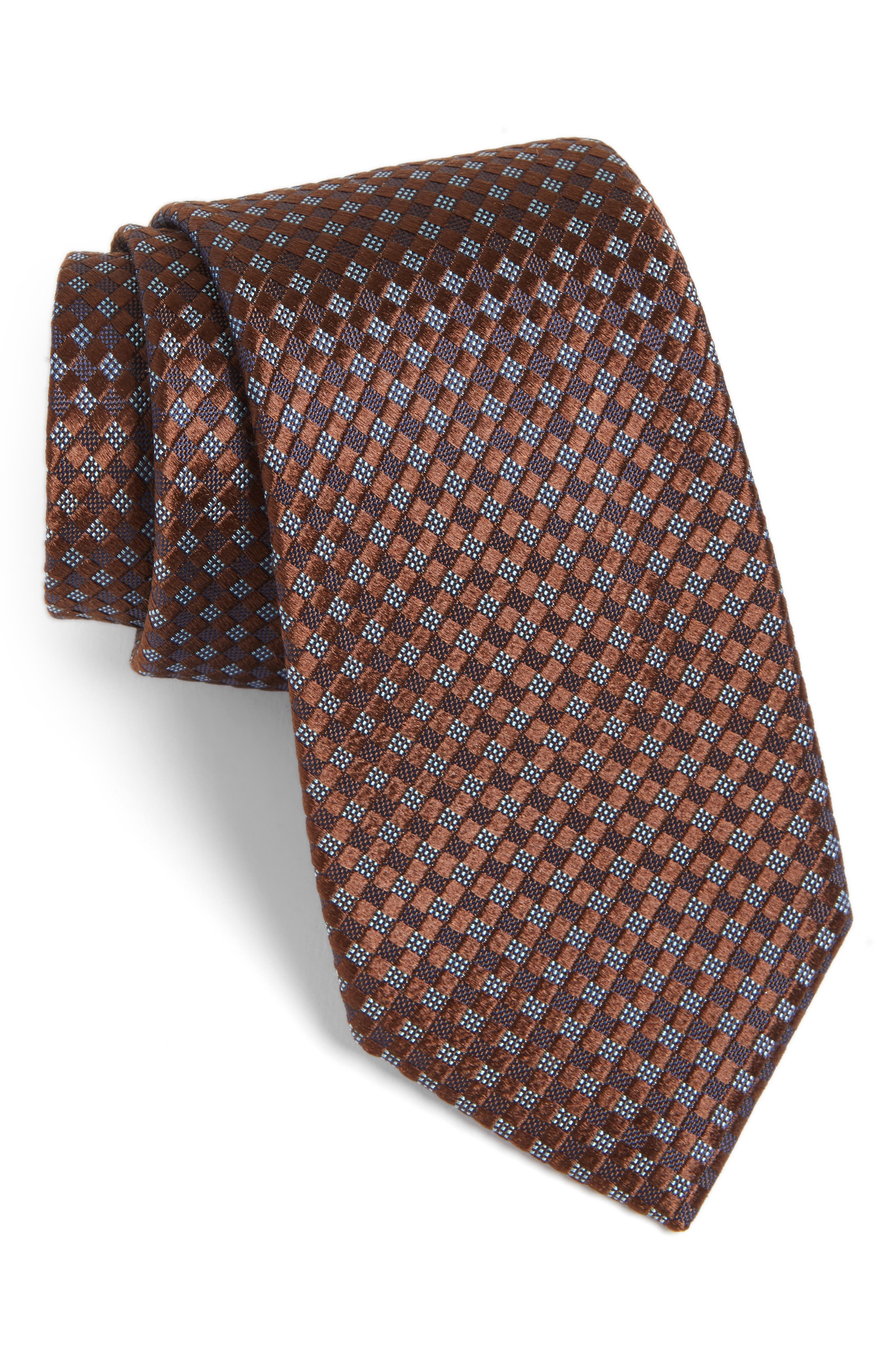 Artesia Check Silk Tie,                             Main thumbnail 2, color,