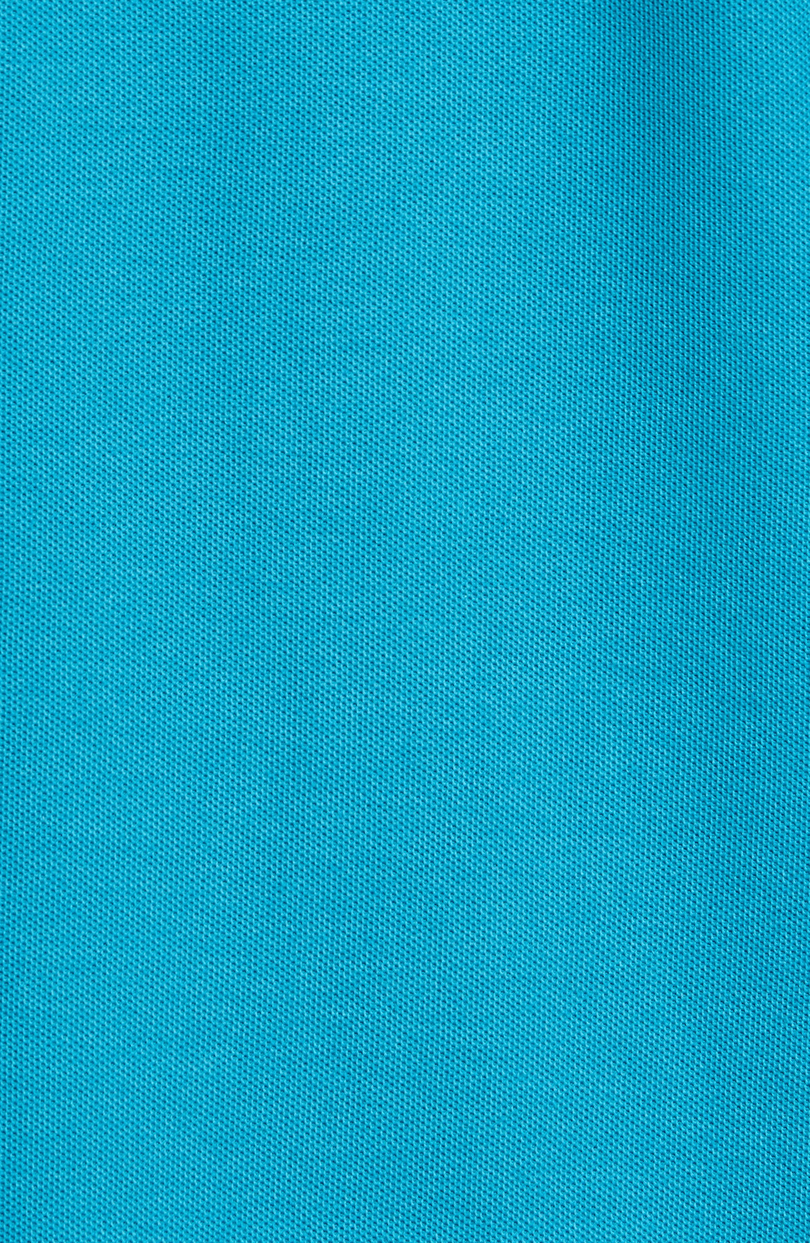 Classic Logo Appliqué Polo,                             Alternate thumbnail 5, color,                             TEAL
