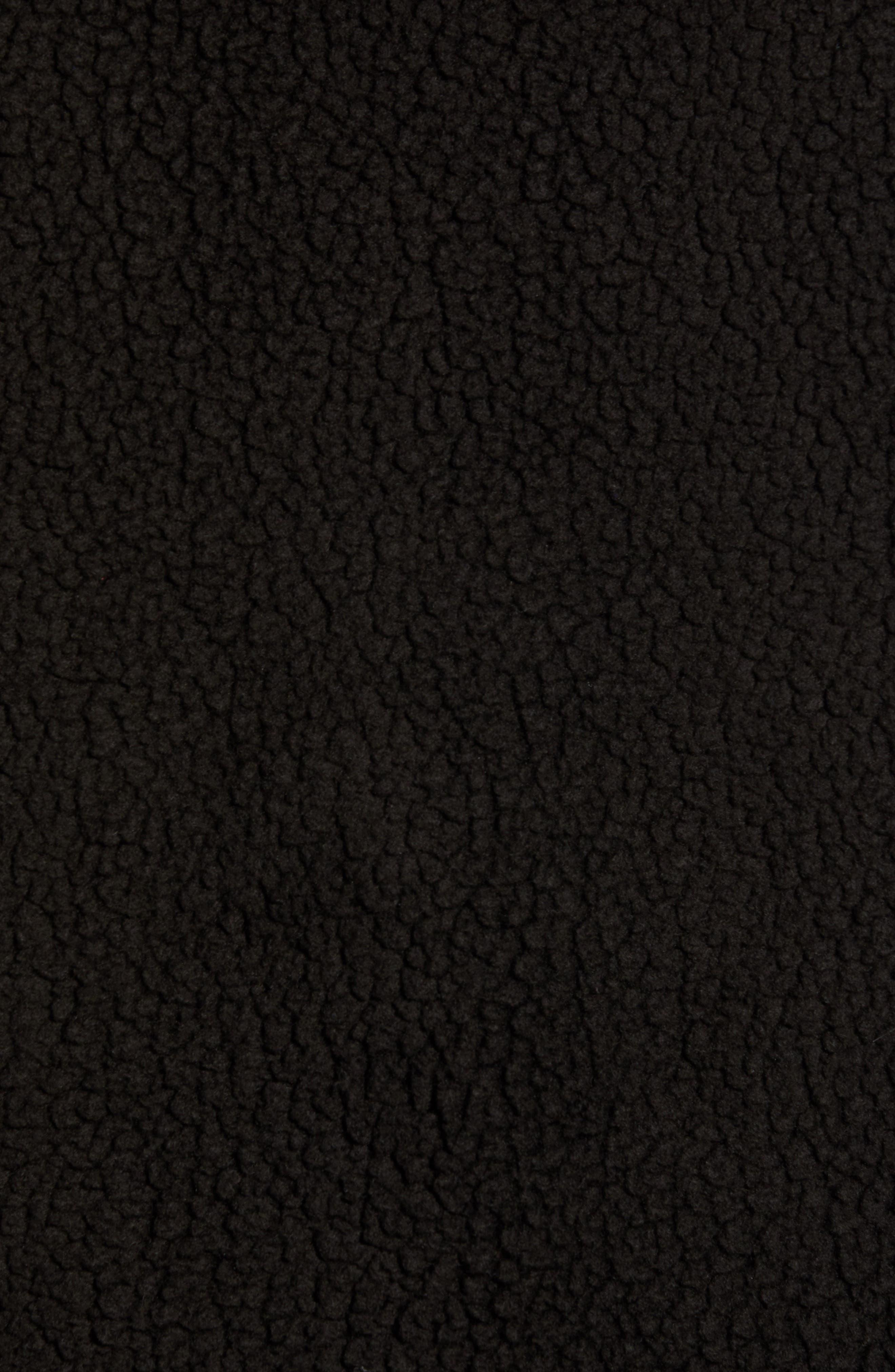 Harbor Regular Fit Fleece Vest,                             Alternate thumbnail 7, color,                             JET BLACK