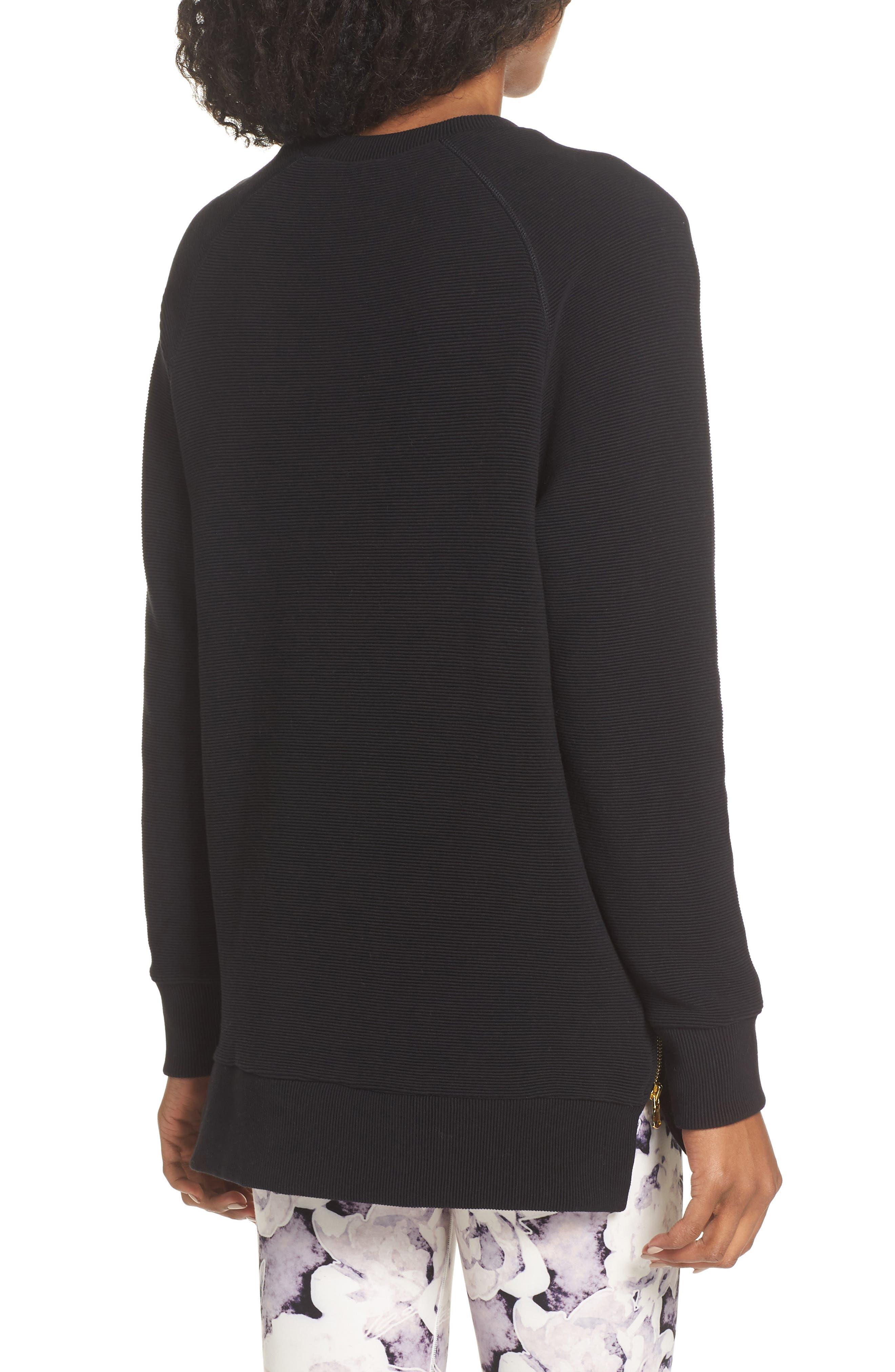 Manning Sweatshirt,                             Alternate thumbnail 2, color,                             BLACK RIB