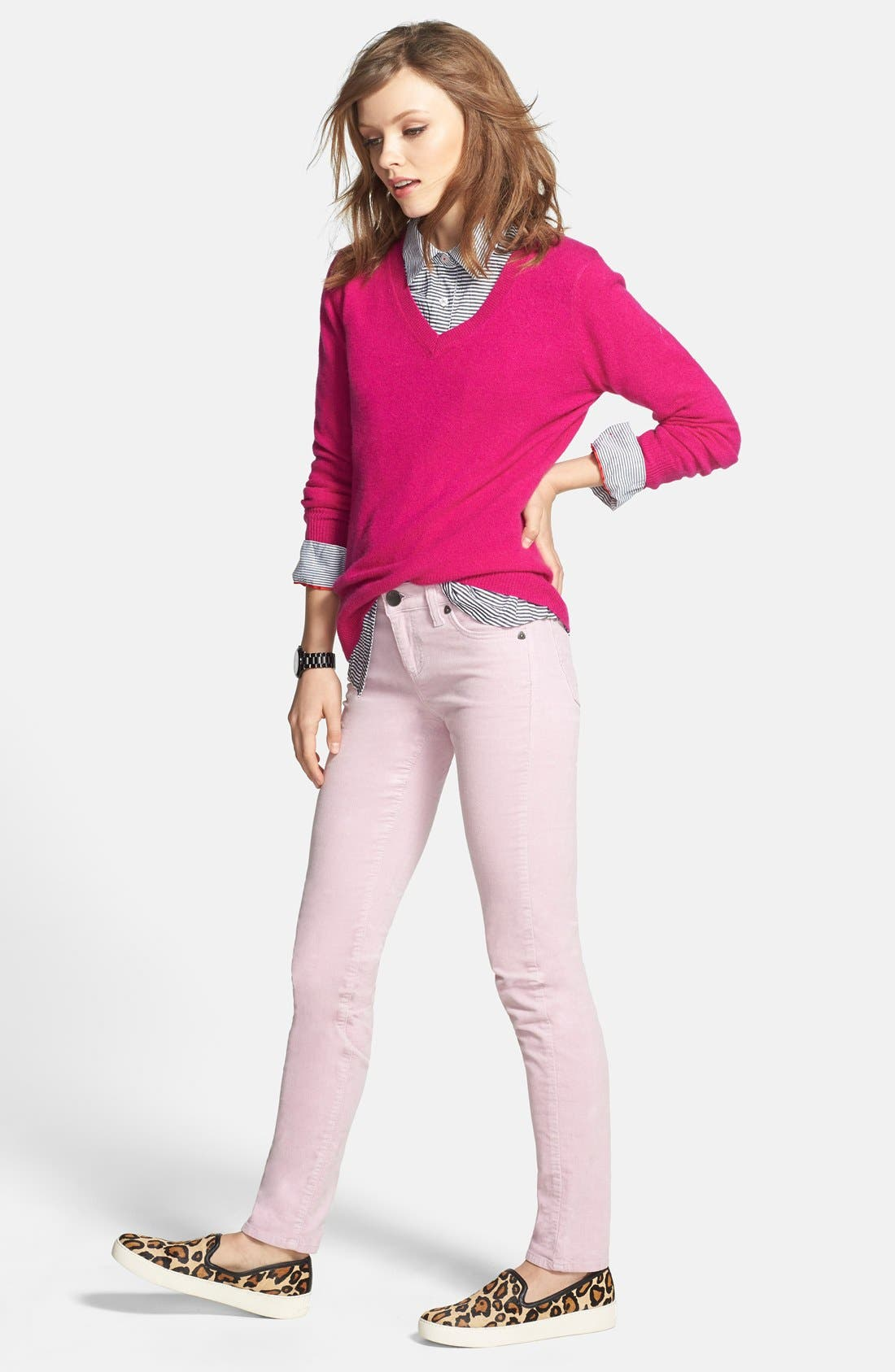 'Diana' Stretch Corduroy Skinny Pants,                             Alternate thumbnail 200, color,