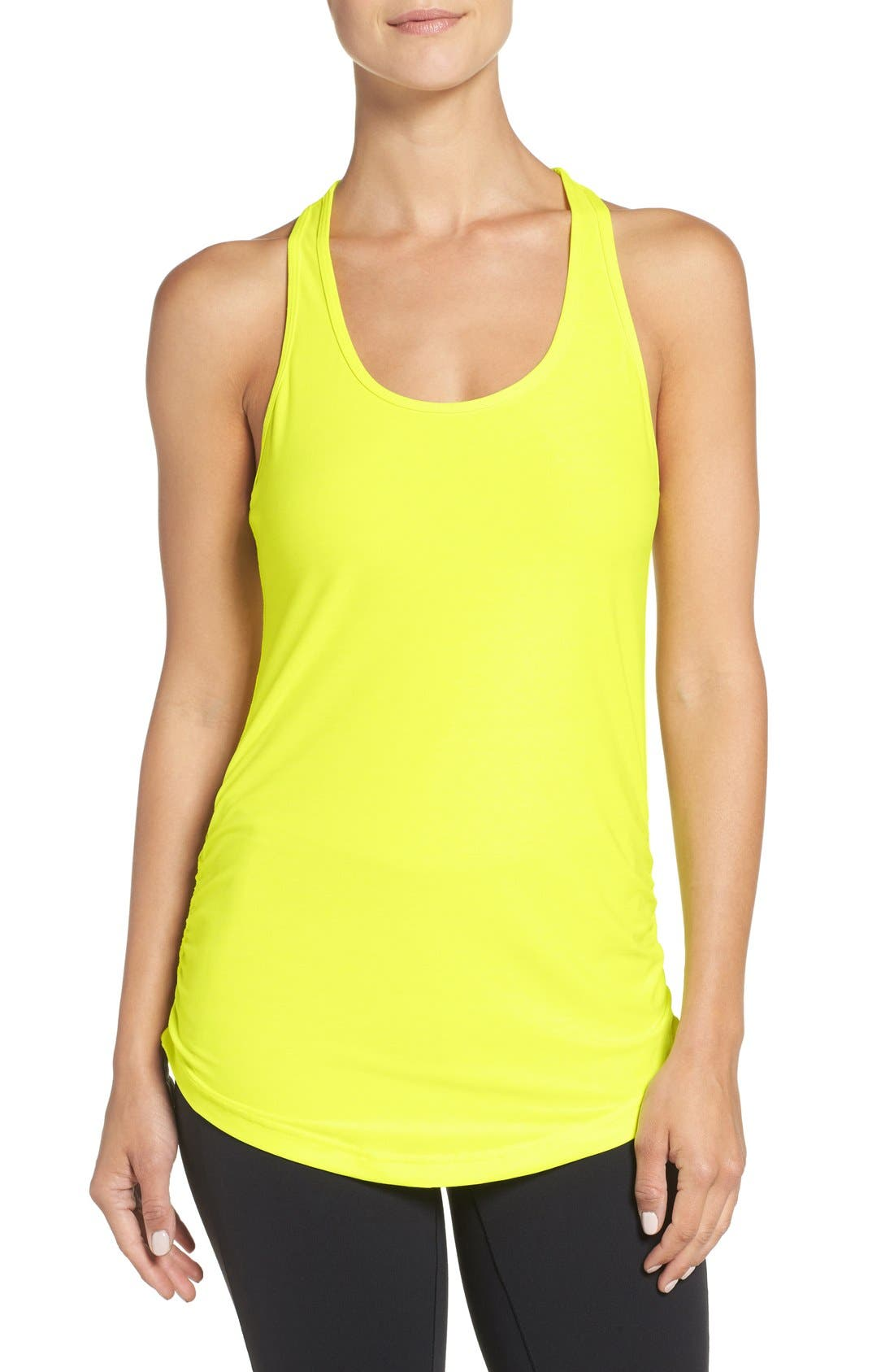'Perfect' Cutout Racerback Tank,                             Main thumbnail 13, color,