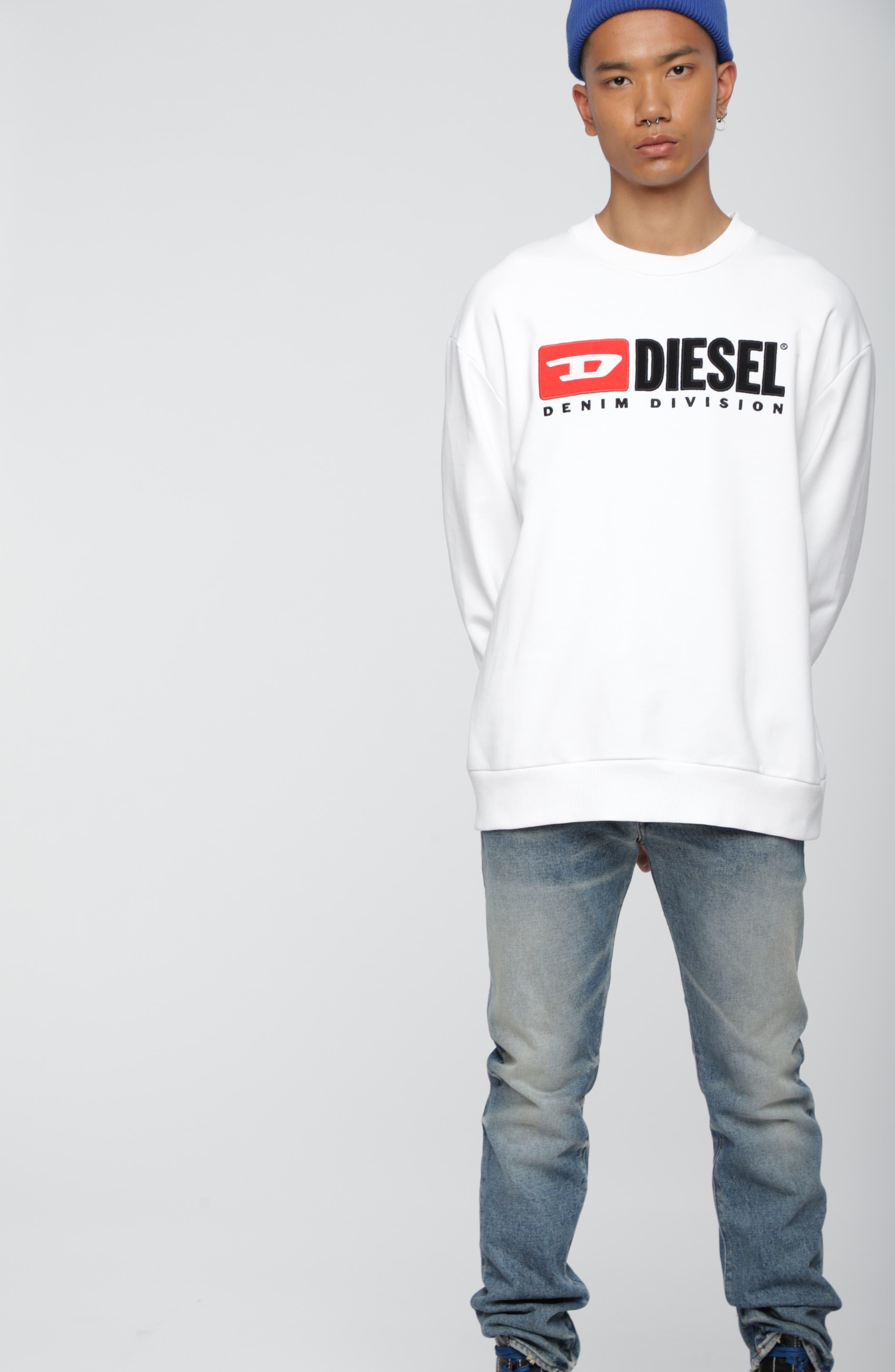 S-CREW-DIVISION Sweatshirt,                             Alternate thumbnail 4, color,                             WHITE