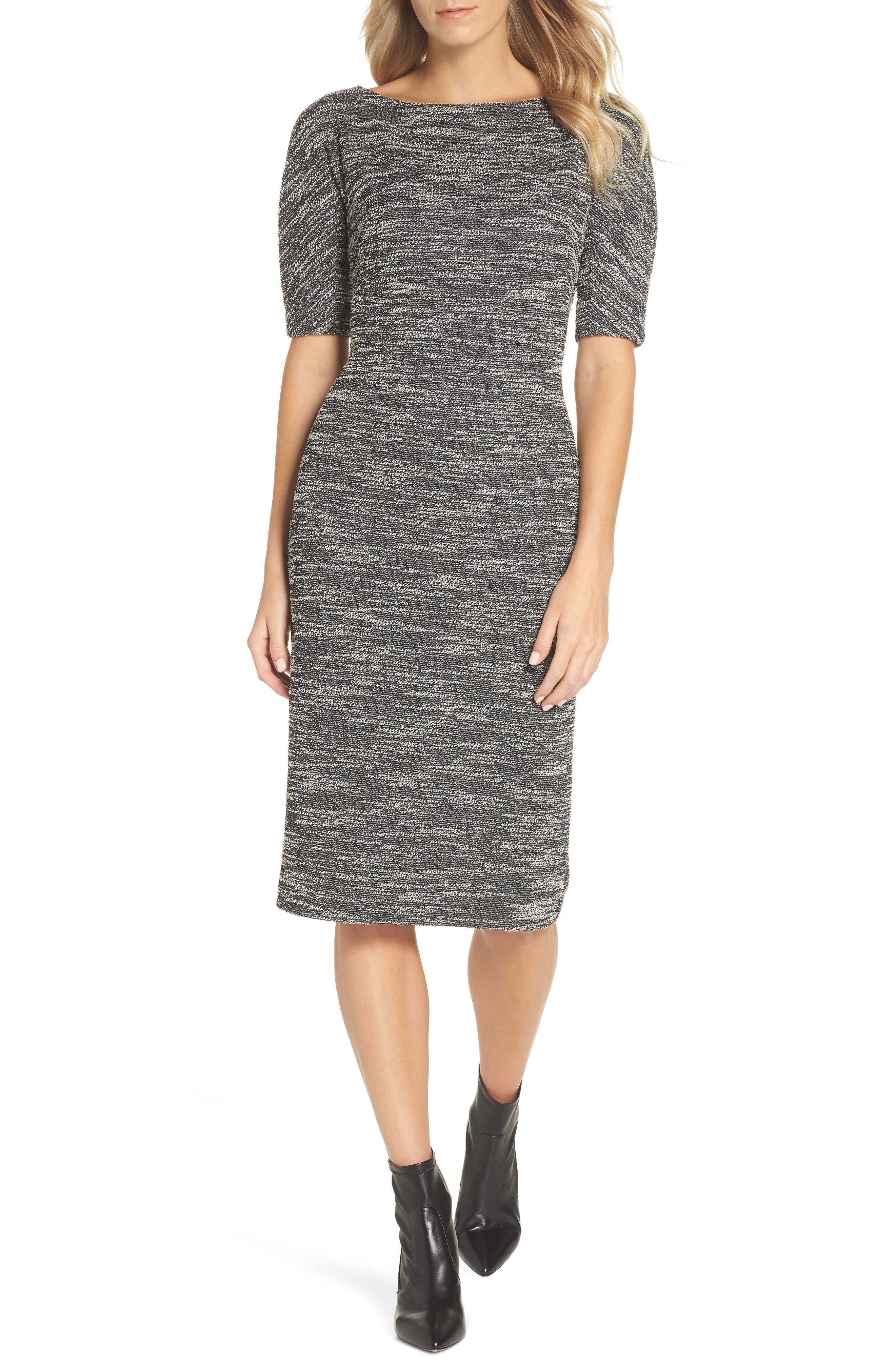 Maggy London Textured Arc Sheath Dress