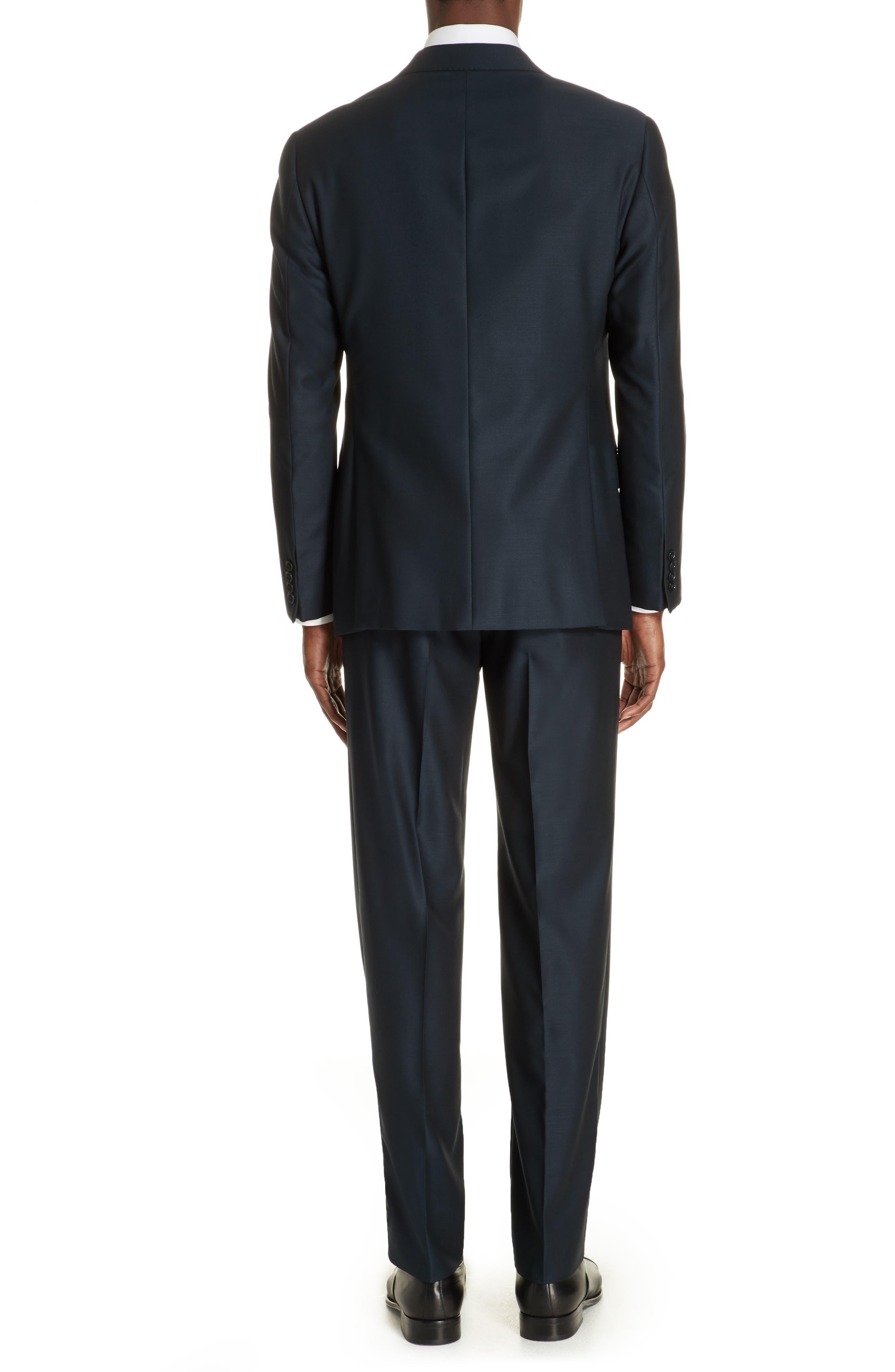 G-Line Trim Fit Solid Wool Suit,                             Alternate thumbnail 2, color,                             BLUE
