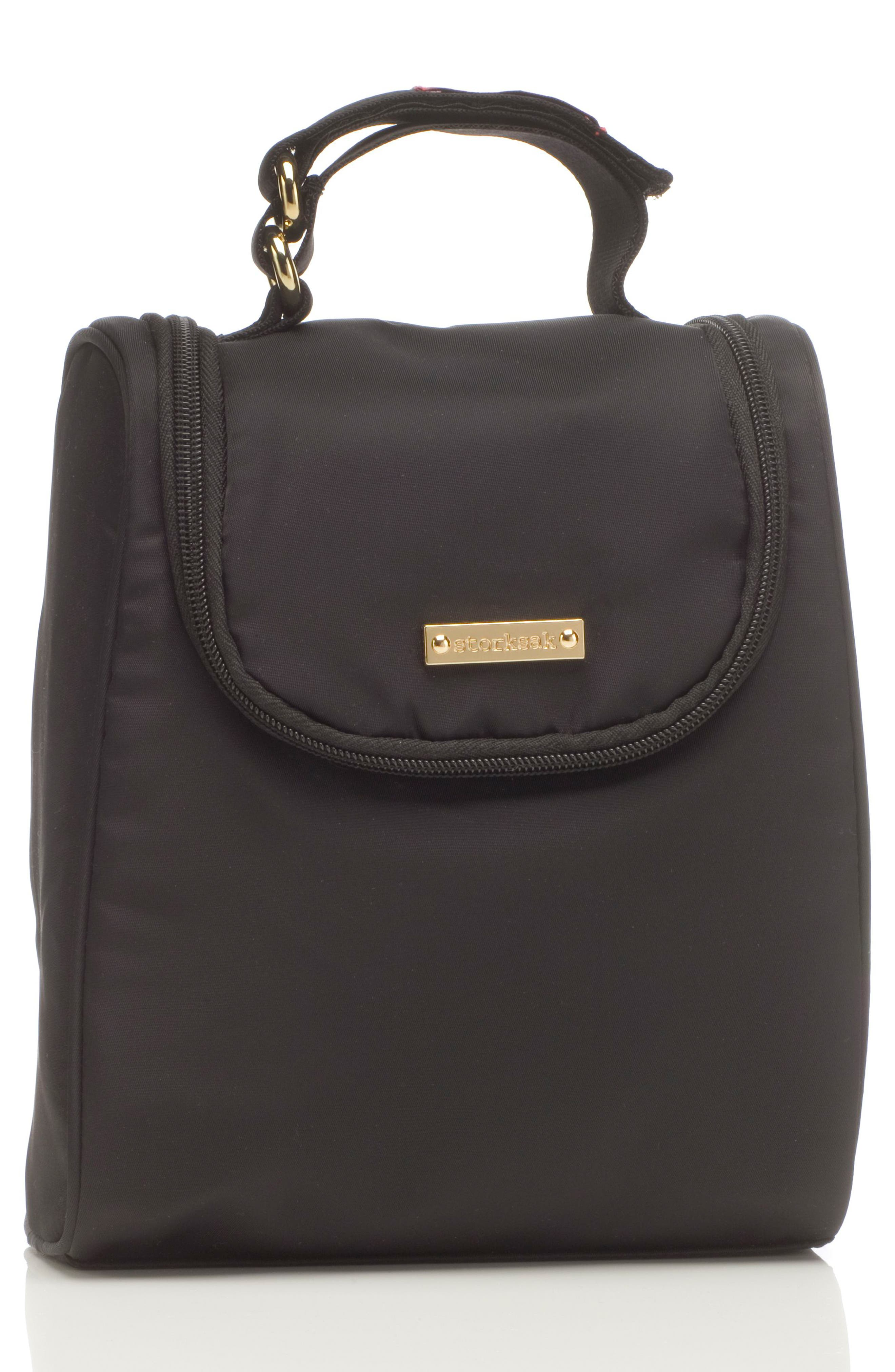 'Sandy' Diaper Bag,                             Alternate thumbnail 6, color,                             BLACK