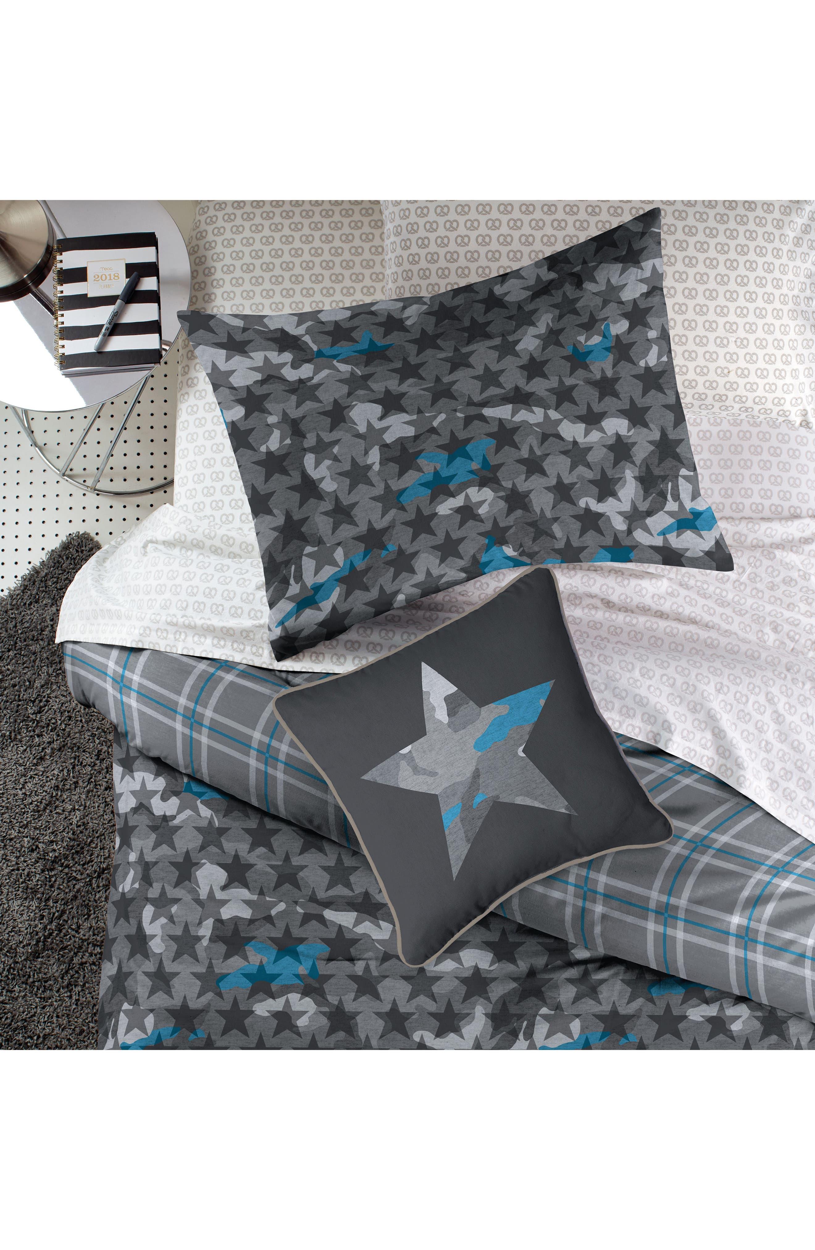 DKNY,                             Camo Comforter & Sham Set,                             Alternate thumbnail 5, color,                             GREY