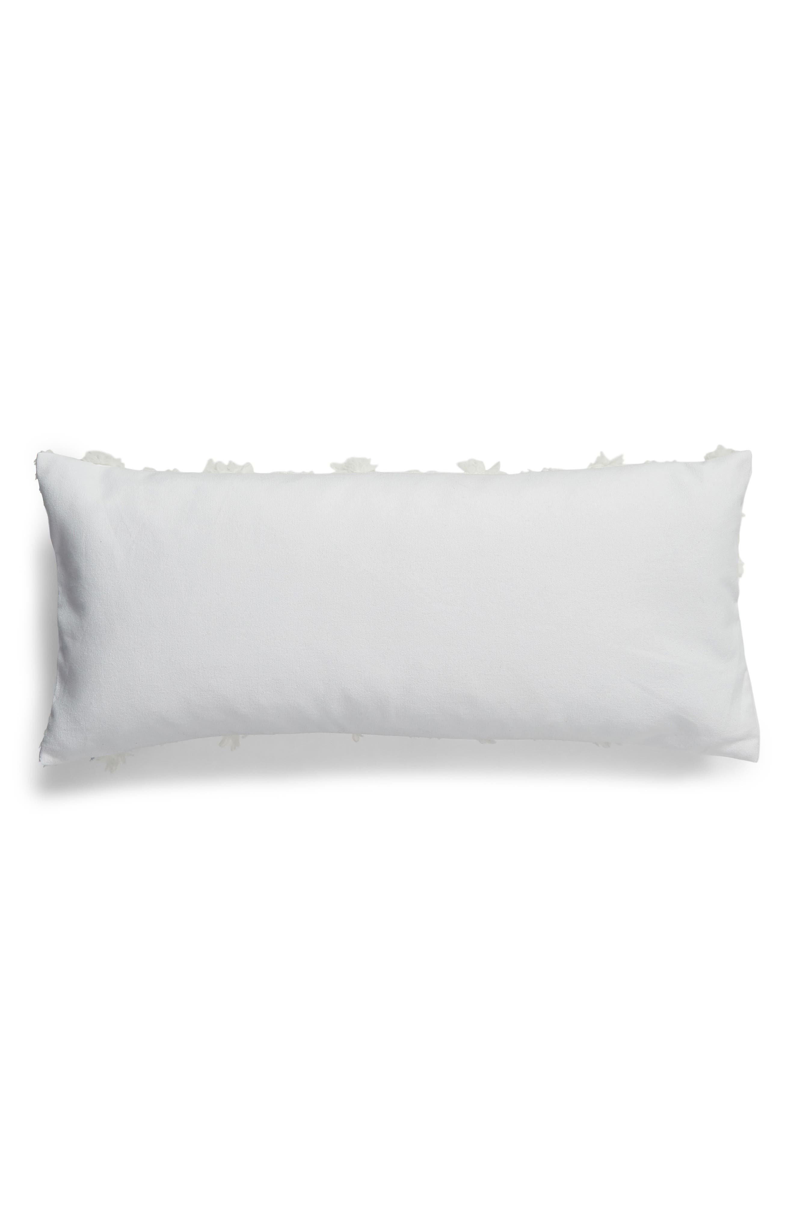 Tufted Overlay Accent Pillow,                             Alternate thumbnail 2, color,                             WHITE