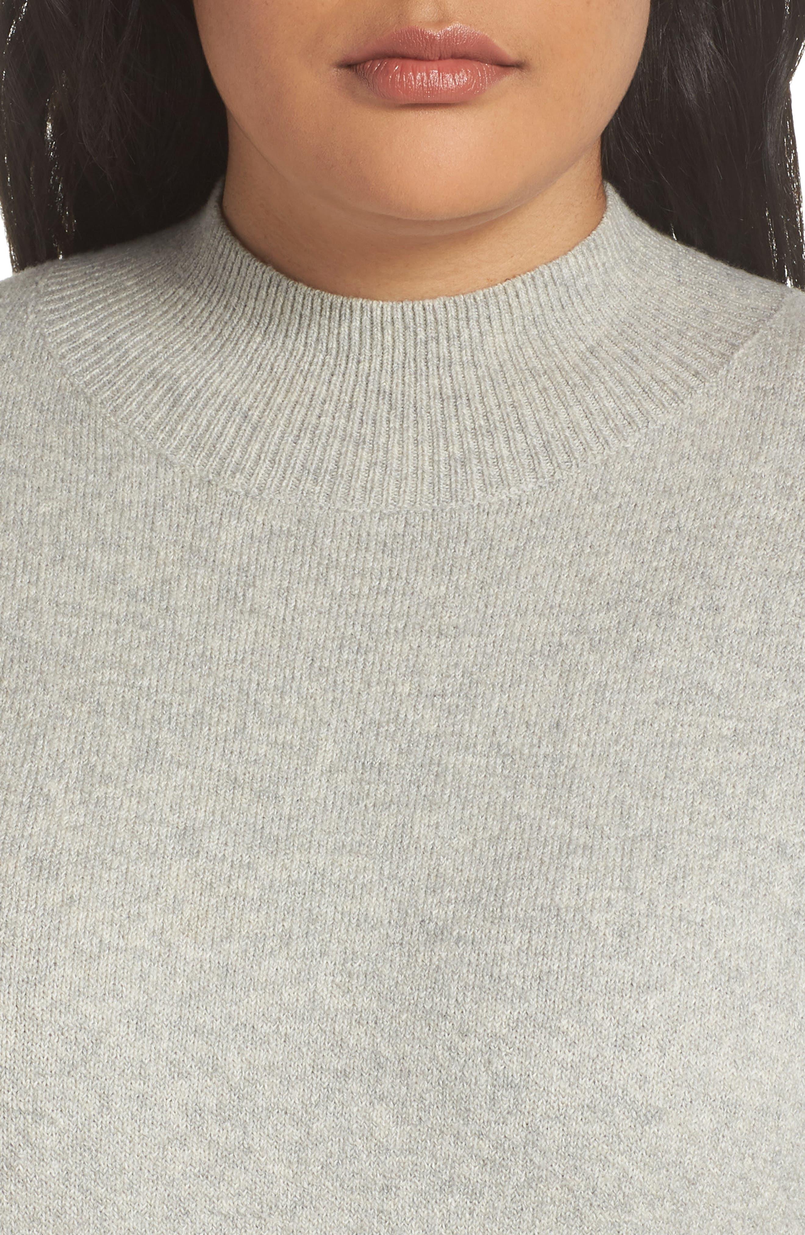 BP.,                             Mock Neck Sweater Dress,                             Alternate thumbnail 4, color,                             021