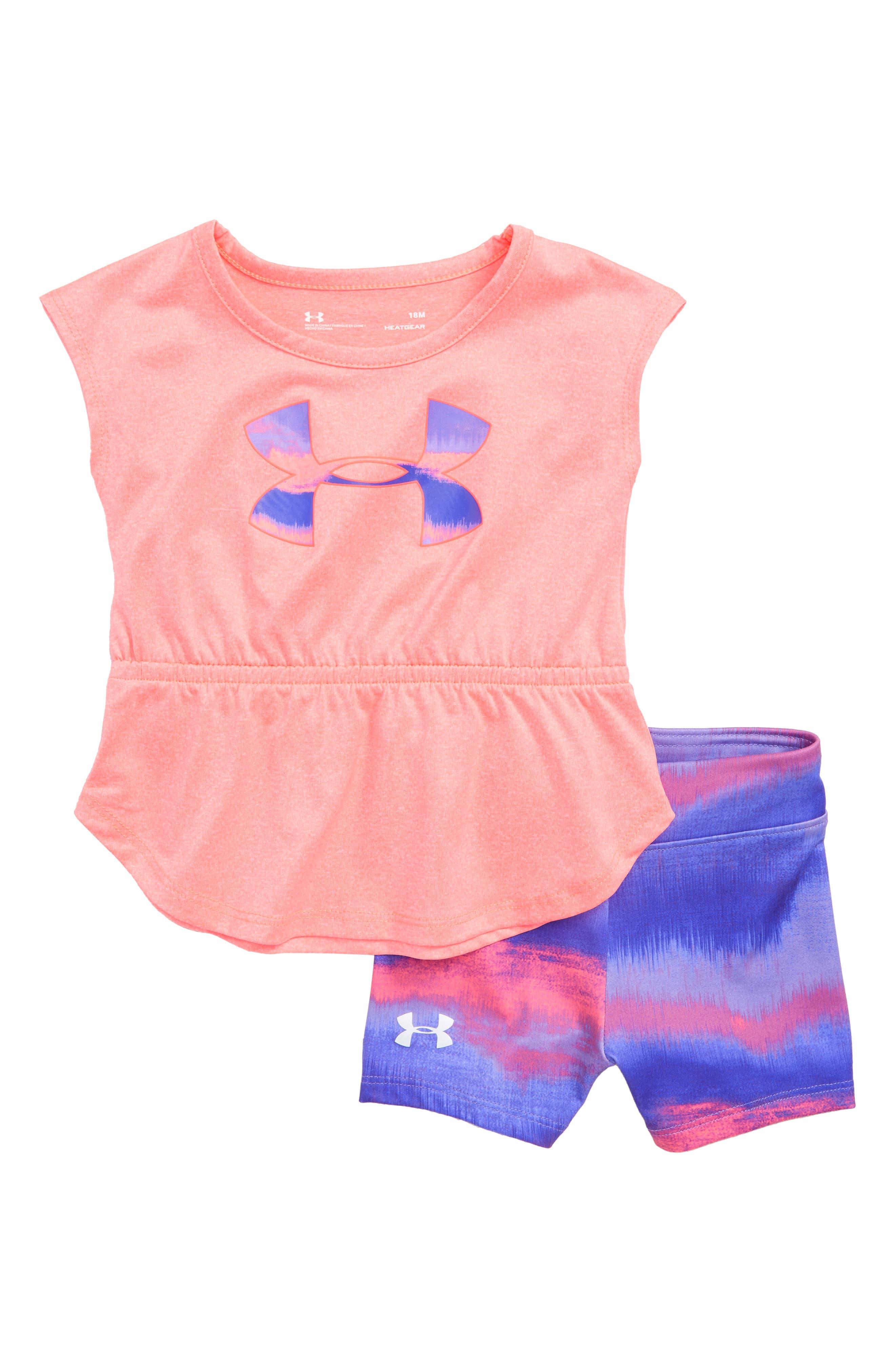 Horizon Logo HeatGear<sup>®</sup> Tank & Mesh Shorts Set,                         Main,                         color, 650