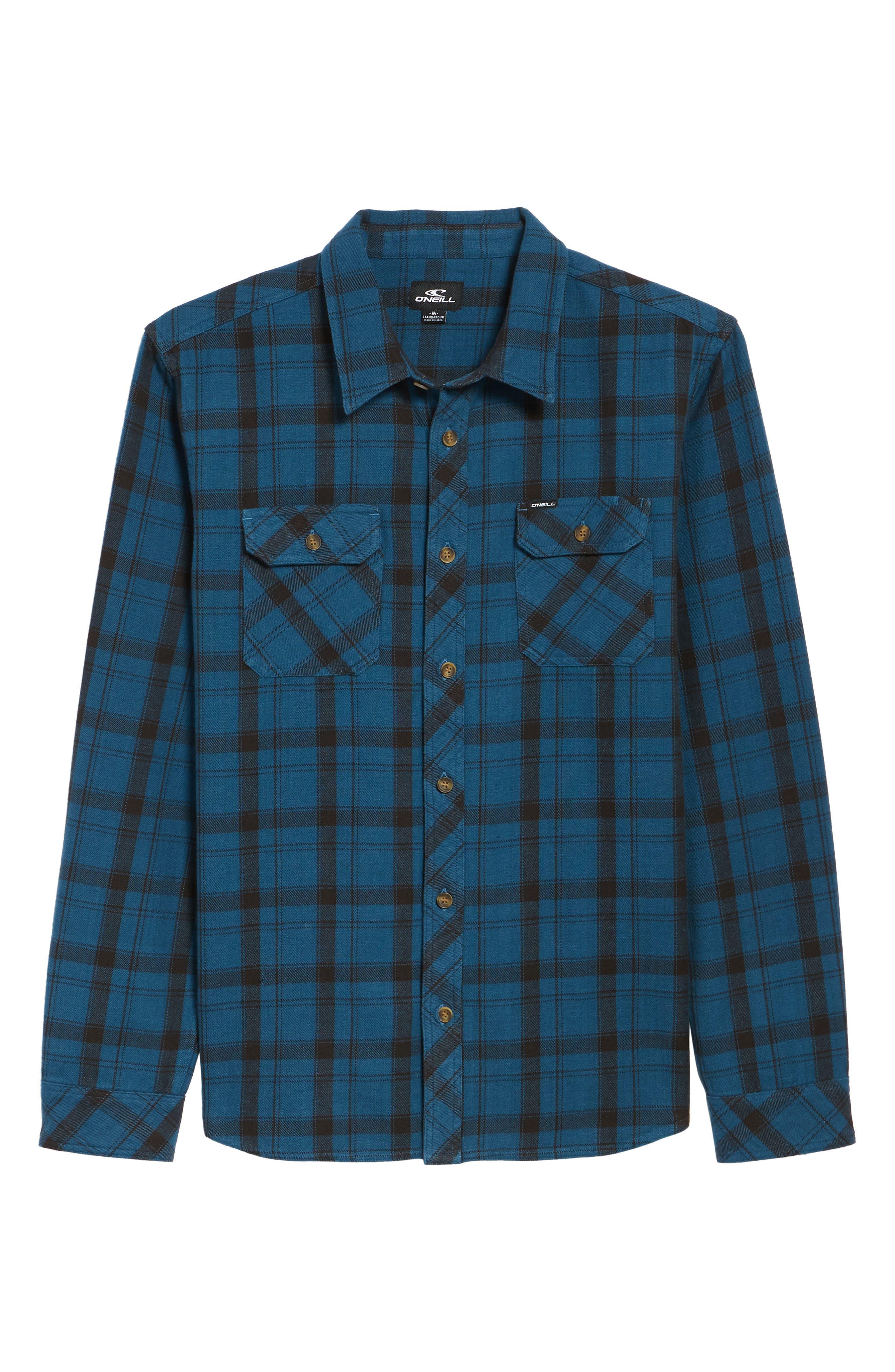 Carpenter Flannel Shirt,                             Alternate thumbnail 18, color,
