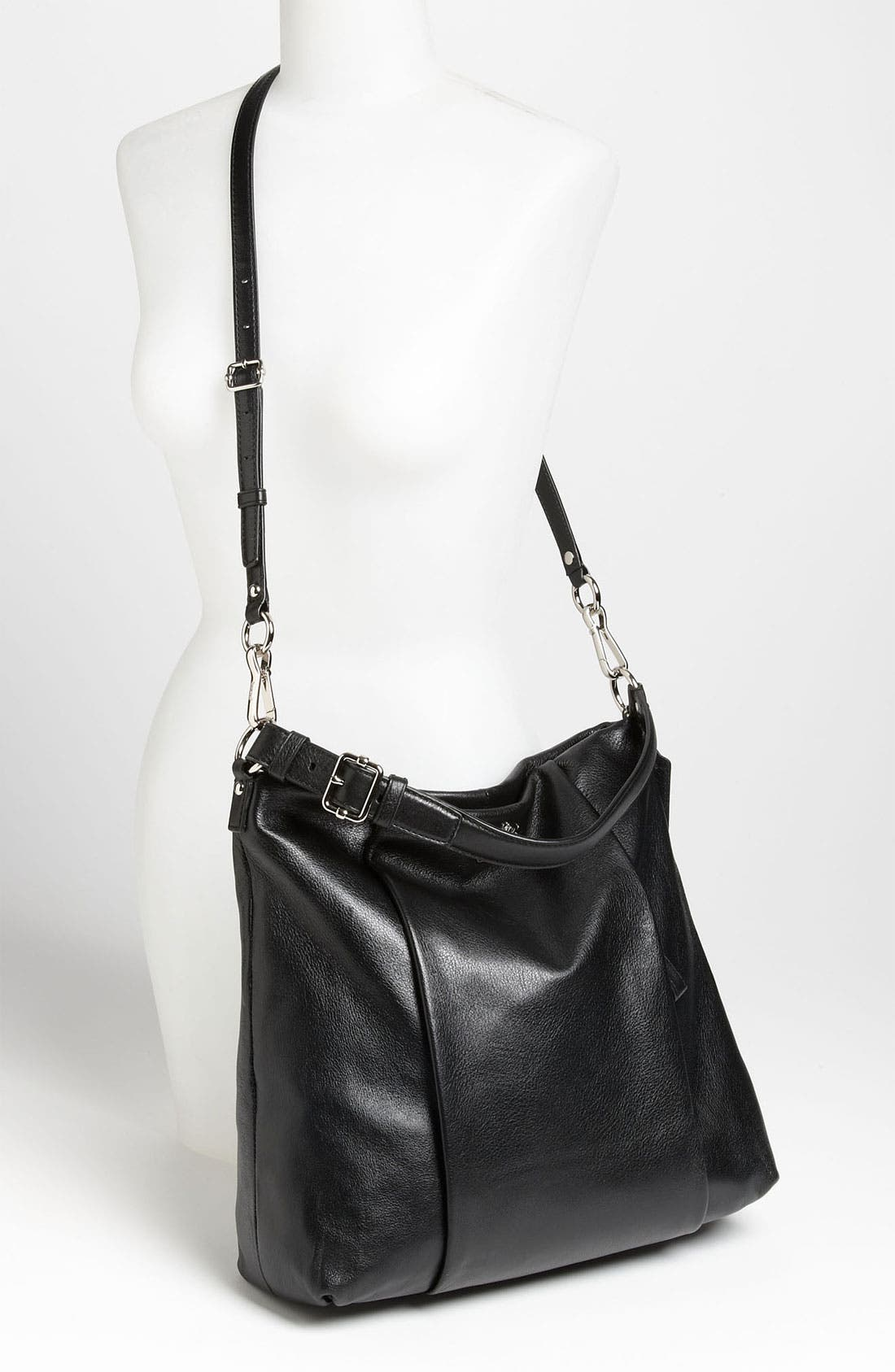 COACH,                             'New Madison - Isabelle' Leather Shoulder Bag,                             Alternate thumbnail 3, color,                             001