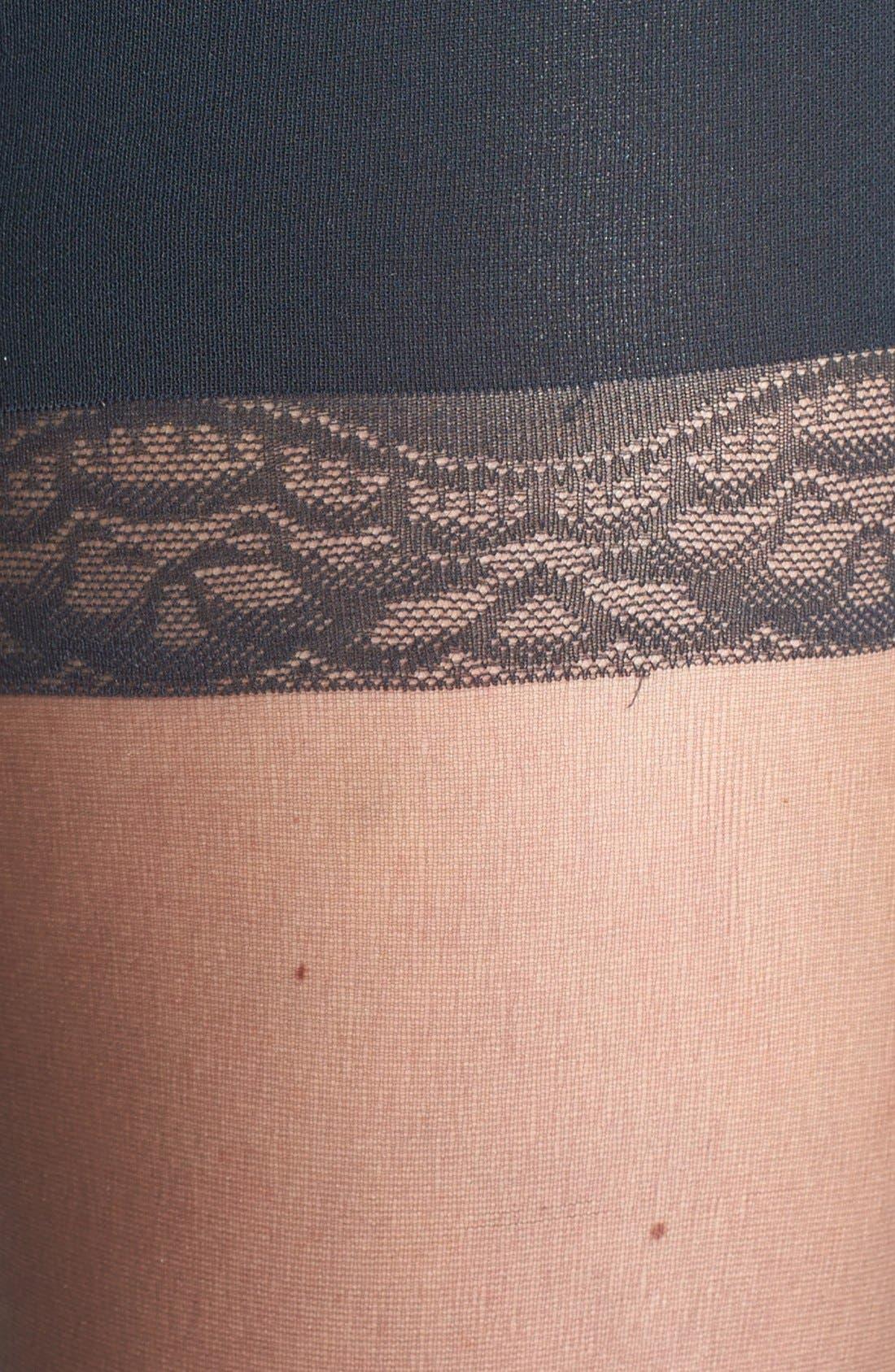 Donna Karan The Nudes Pantyhose,                             Alternate thumbnail 3, color,                             CHARCOAL