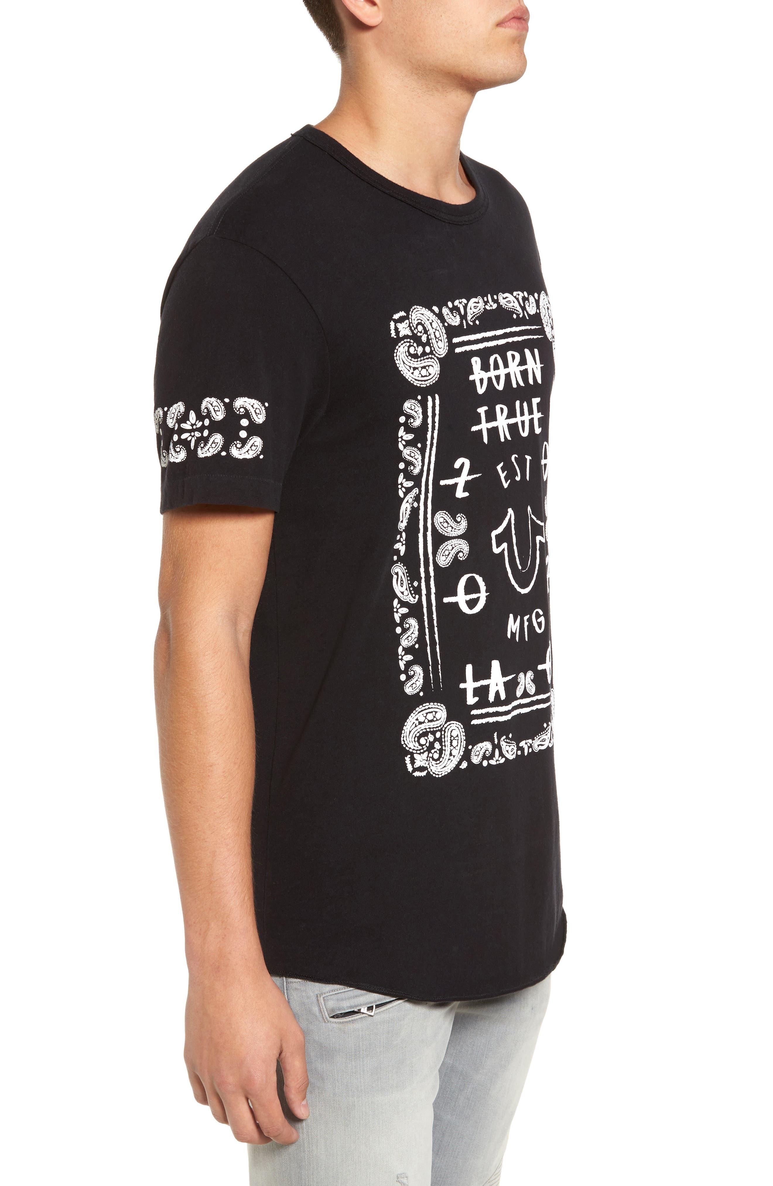 Born True Graphic T-Shirt,                             Alternate thumbnail 3, color,                             001