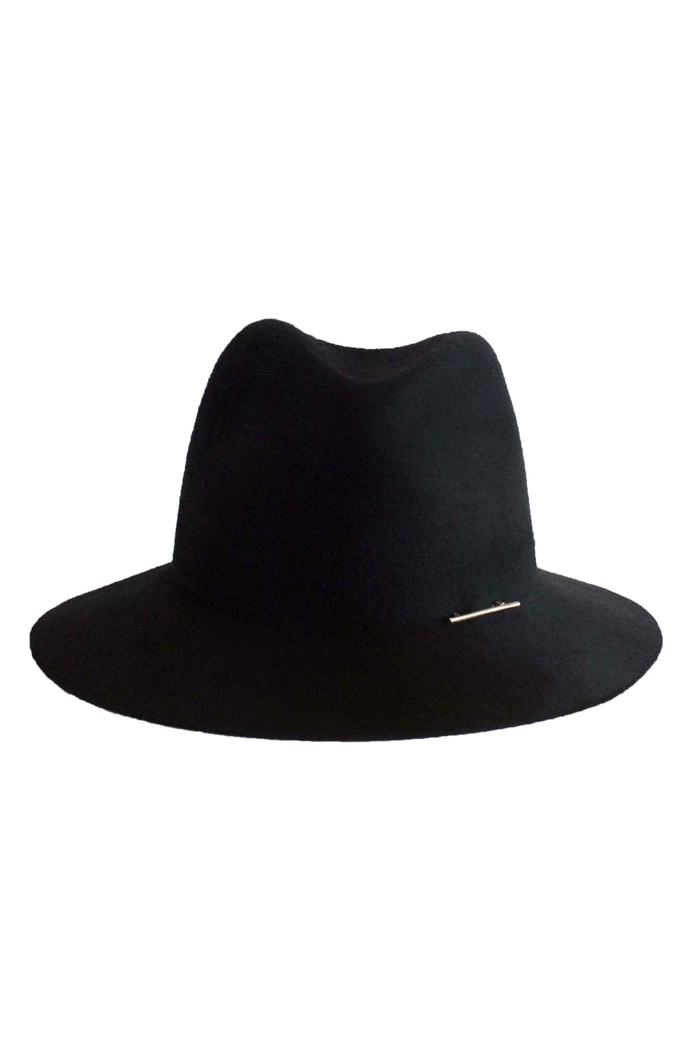 Lane Wool Hat,                             Alternate thumbnail 2, color,                             001