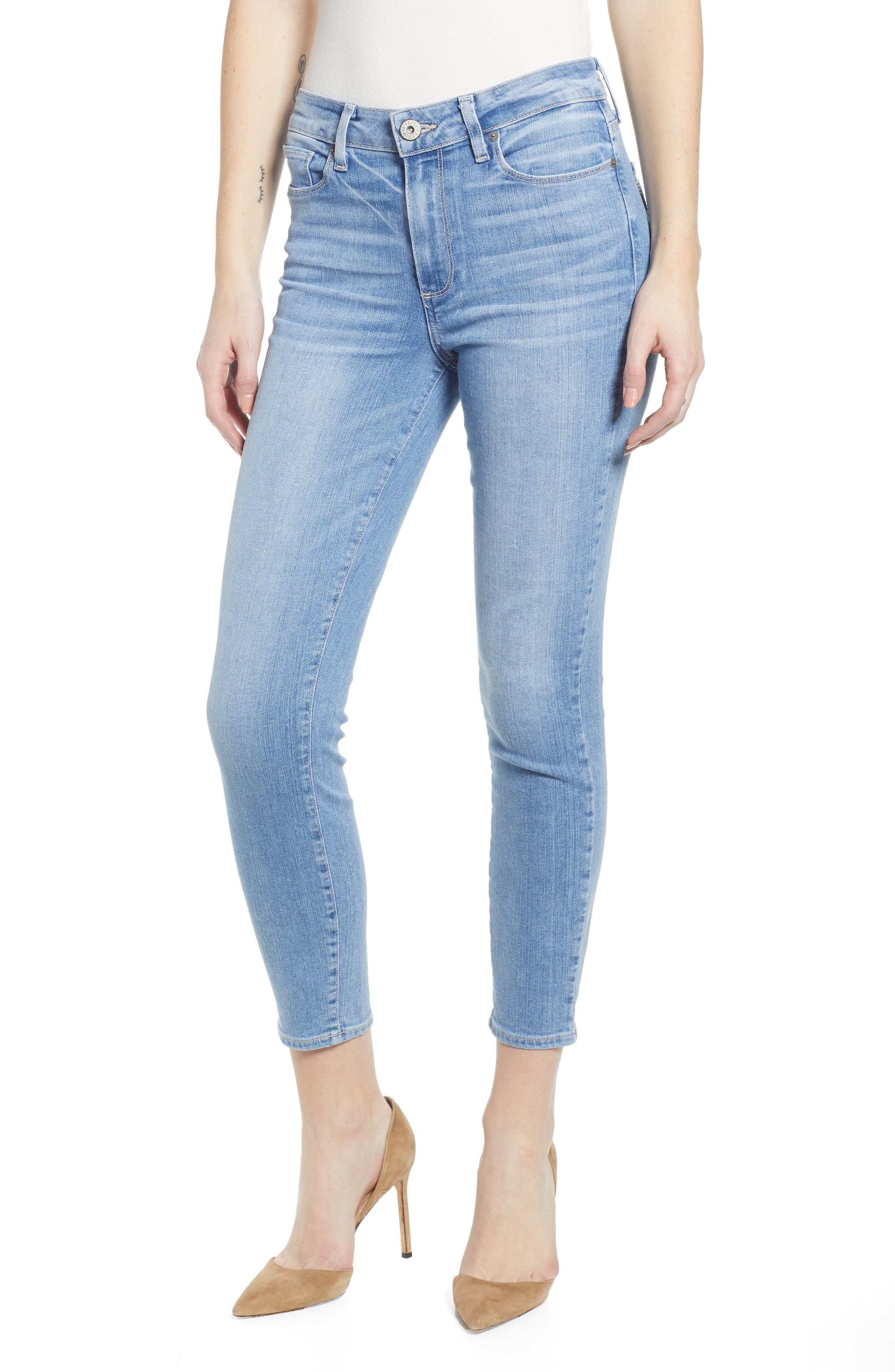 Women's Paige Hoxton High Waist Crop Skinny Jeans