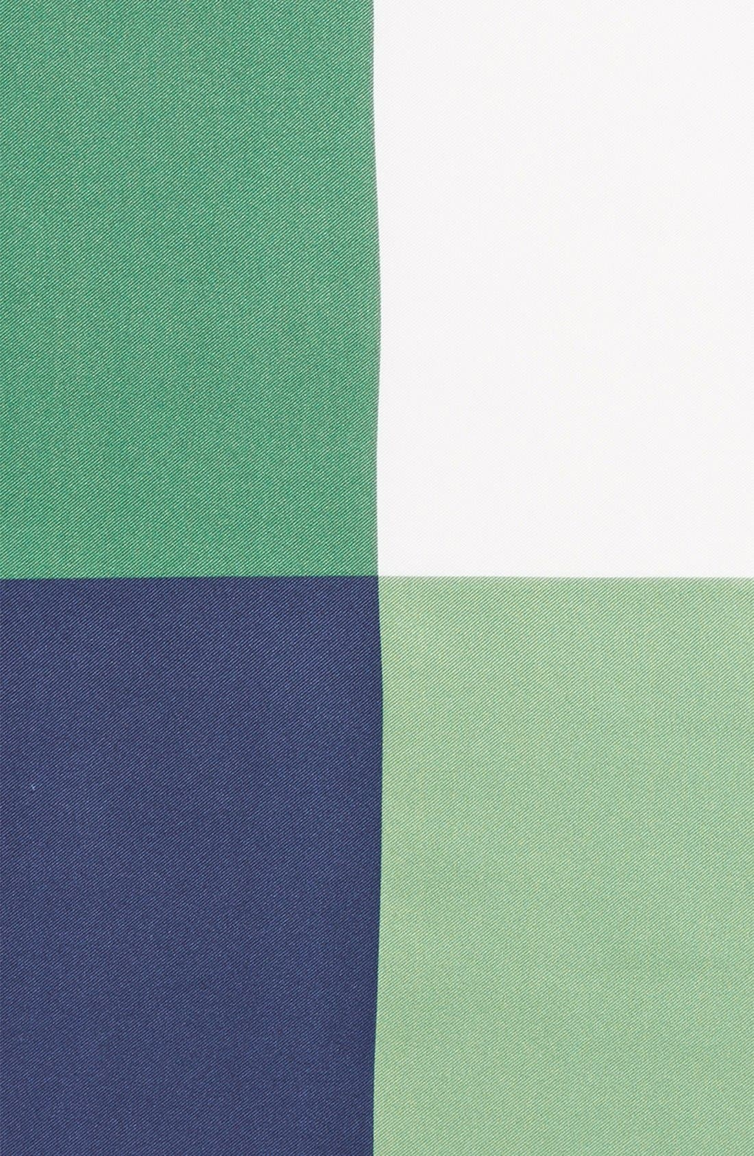 Panel Silk Pocket Square,                             Alternate thumbnail 3, color,                             GREEN