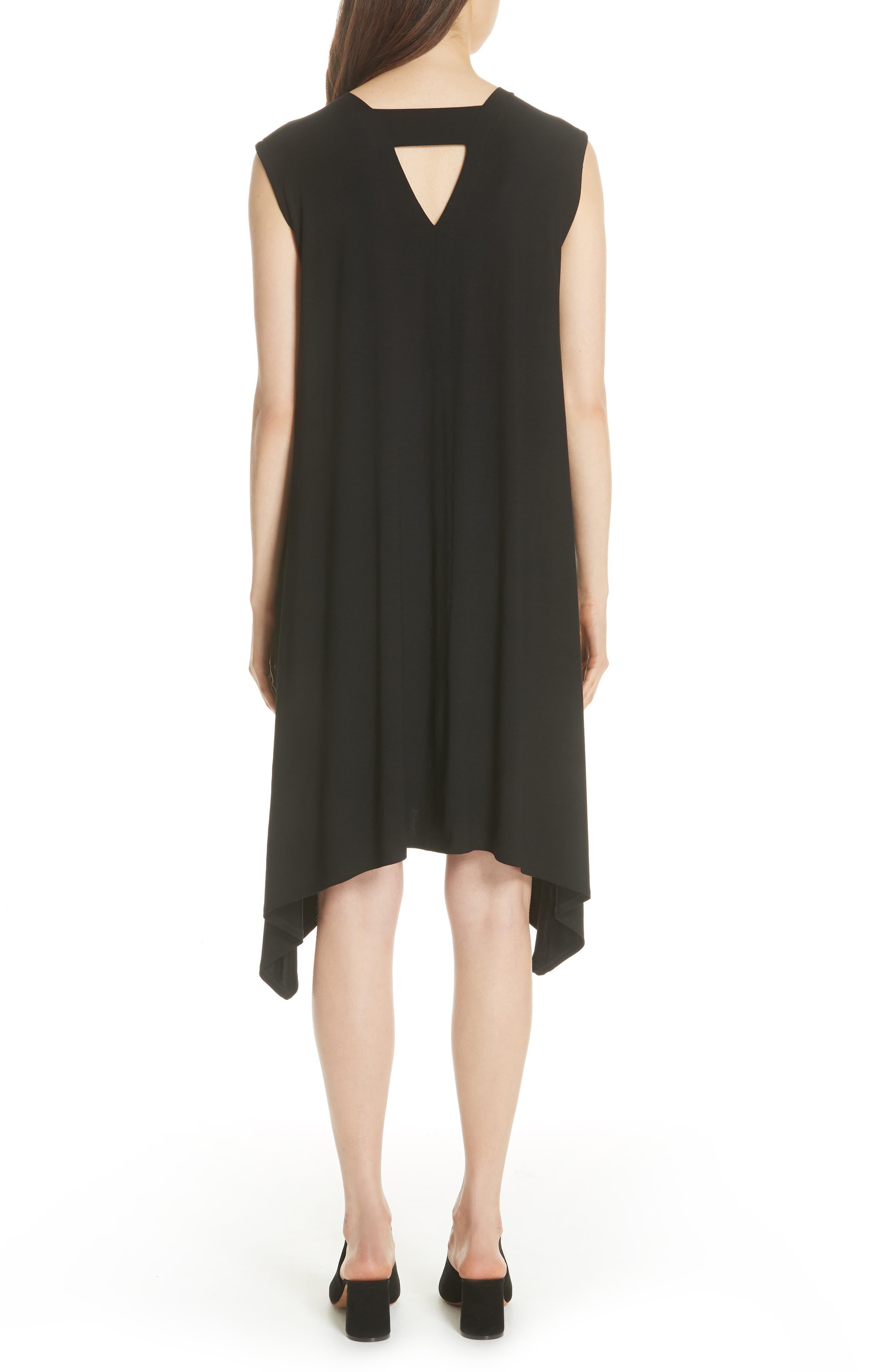 Cutout Jersey Shift Dress,                             Alternate thumbnail 2, color,                             BLACK