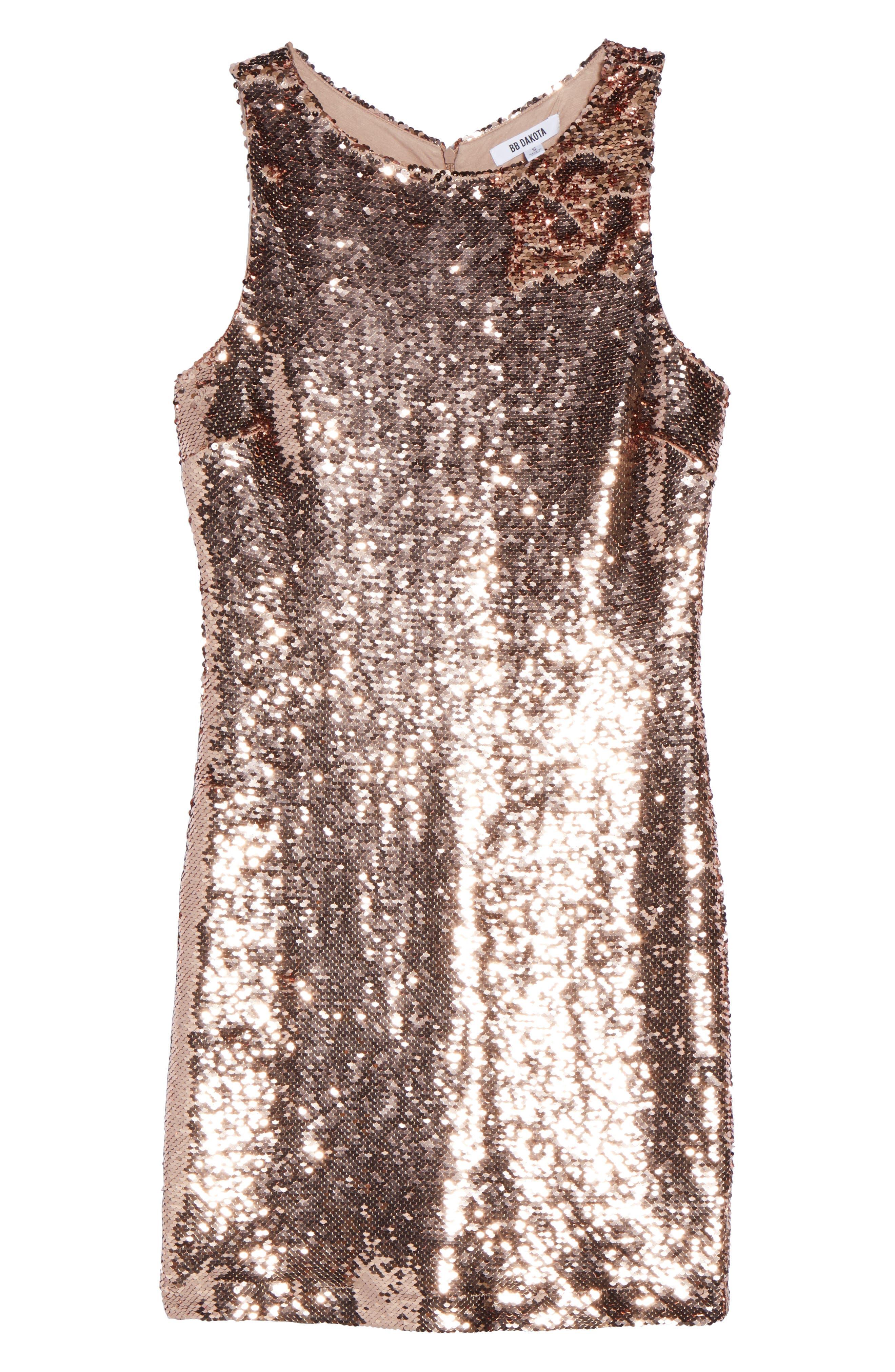 Garland Sequin Sheath Dress,                             Alternate thumbnail 6, color,