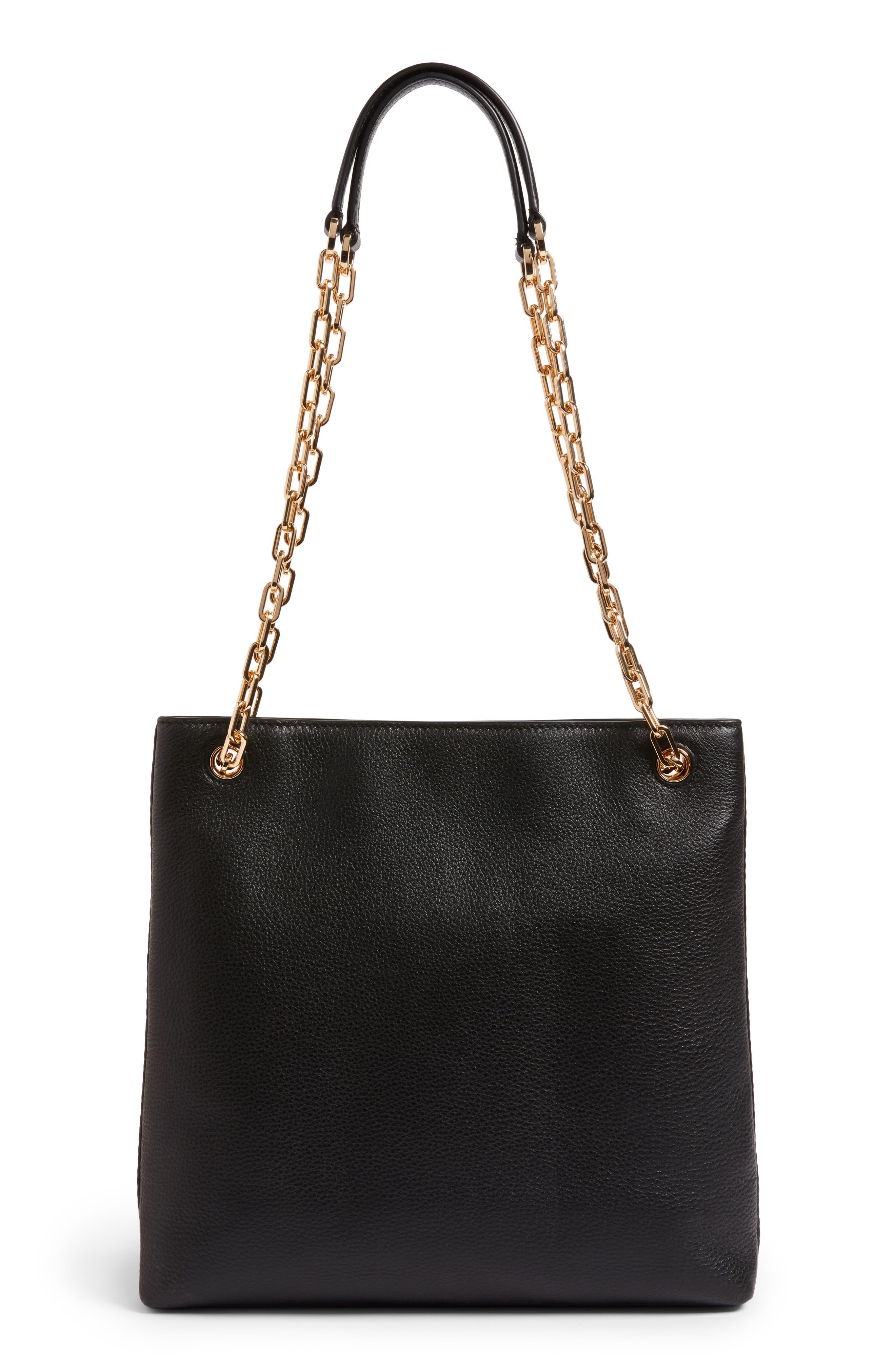 Frida Swingpack Leather Crossbody Bag,                             Alternate thumbnail 3, color,                             001