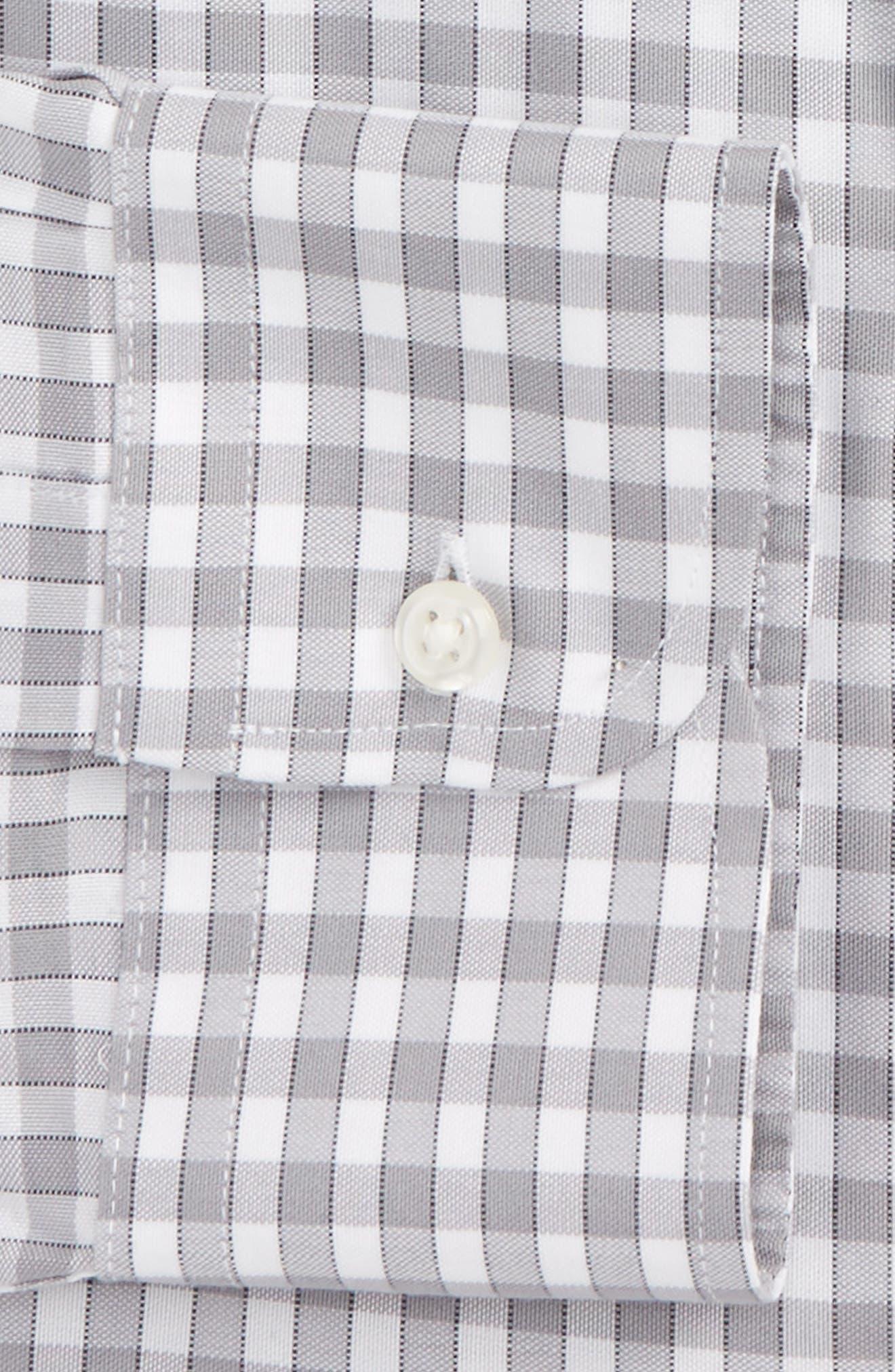 Smartcare<sup>™</sup> Trim Fit Check Dress Shirt,                             Alternate thumbnail 6, color,                             050