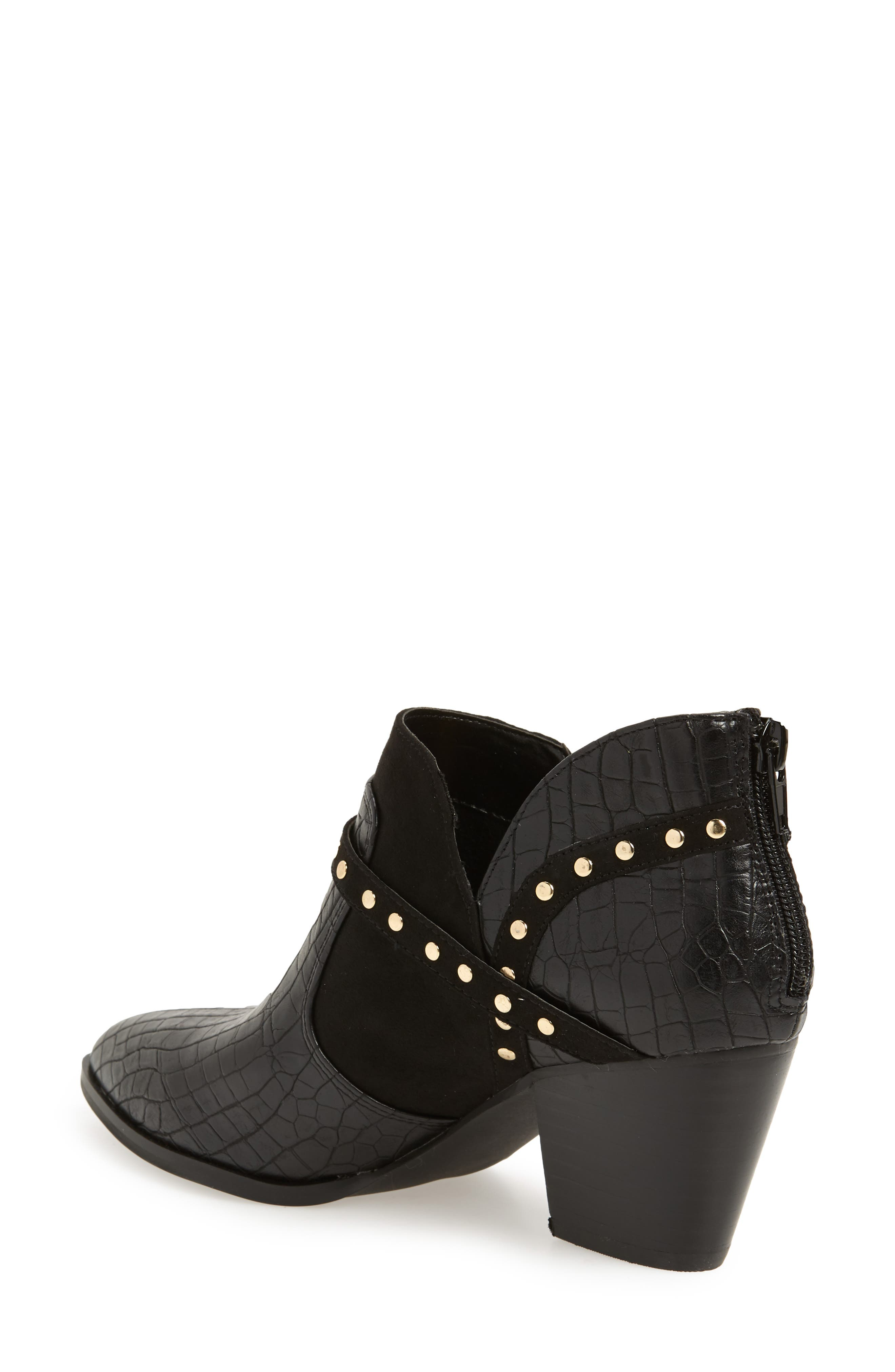 Elody II Pointy Toe Bootie,                             Alternate thumbnail 2, color,                             BLACK