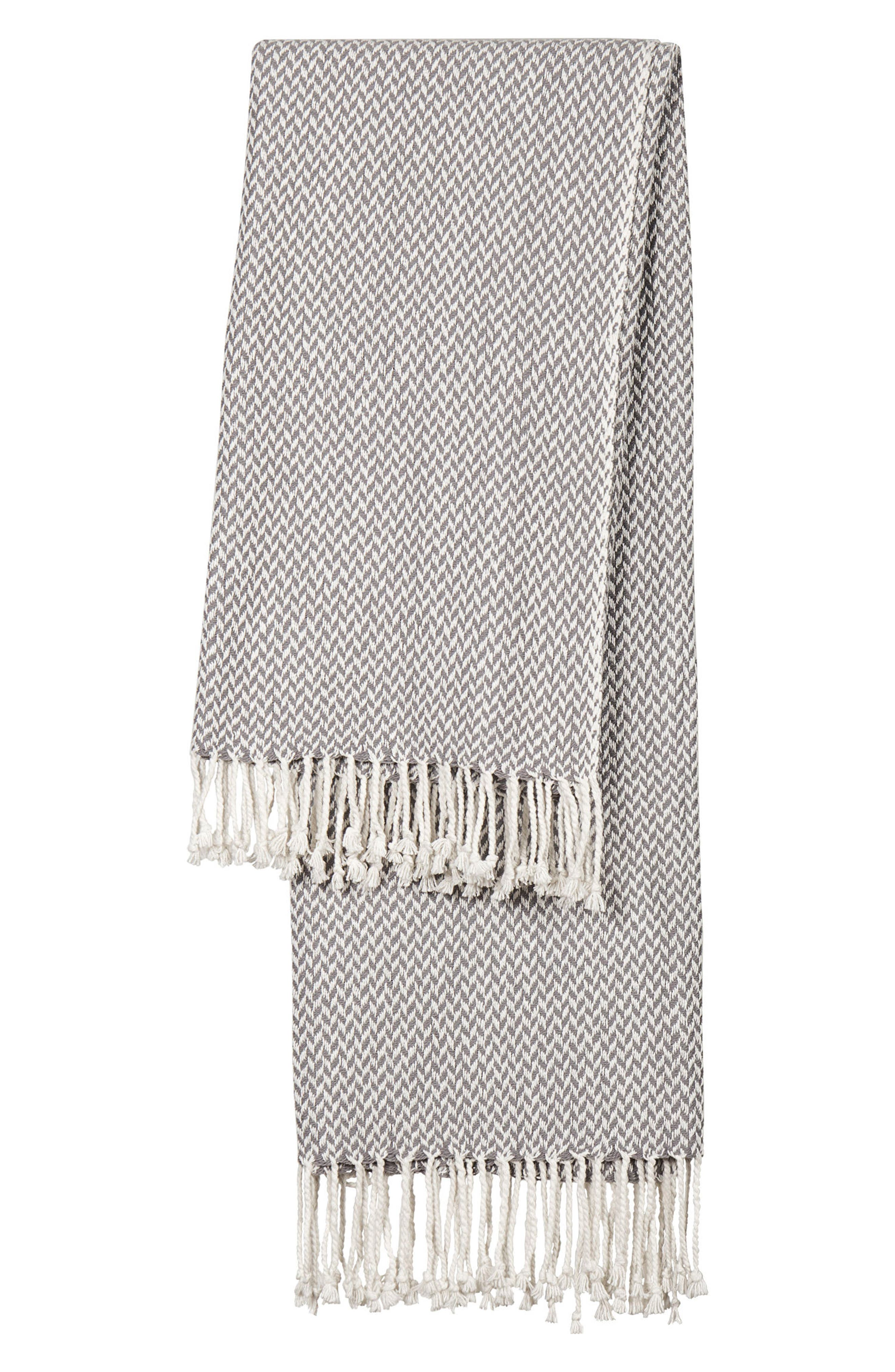 Monogram Herringbone Throw Blanket,                             Main thumbnail 1, color,                             020