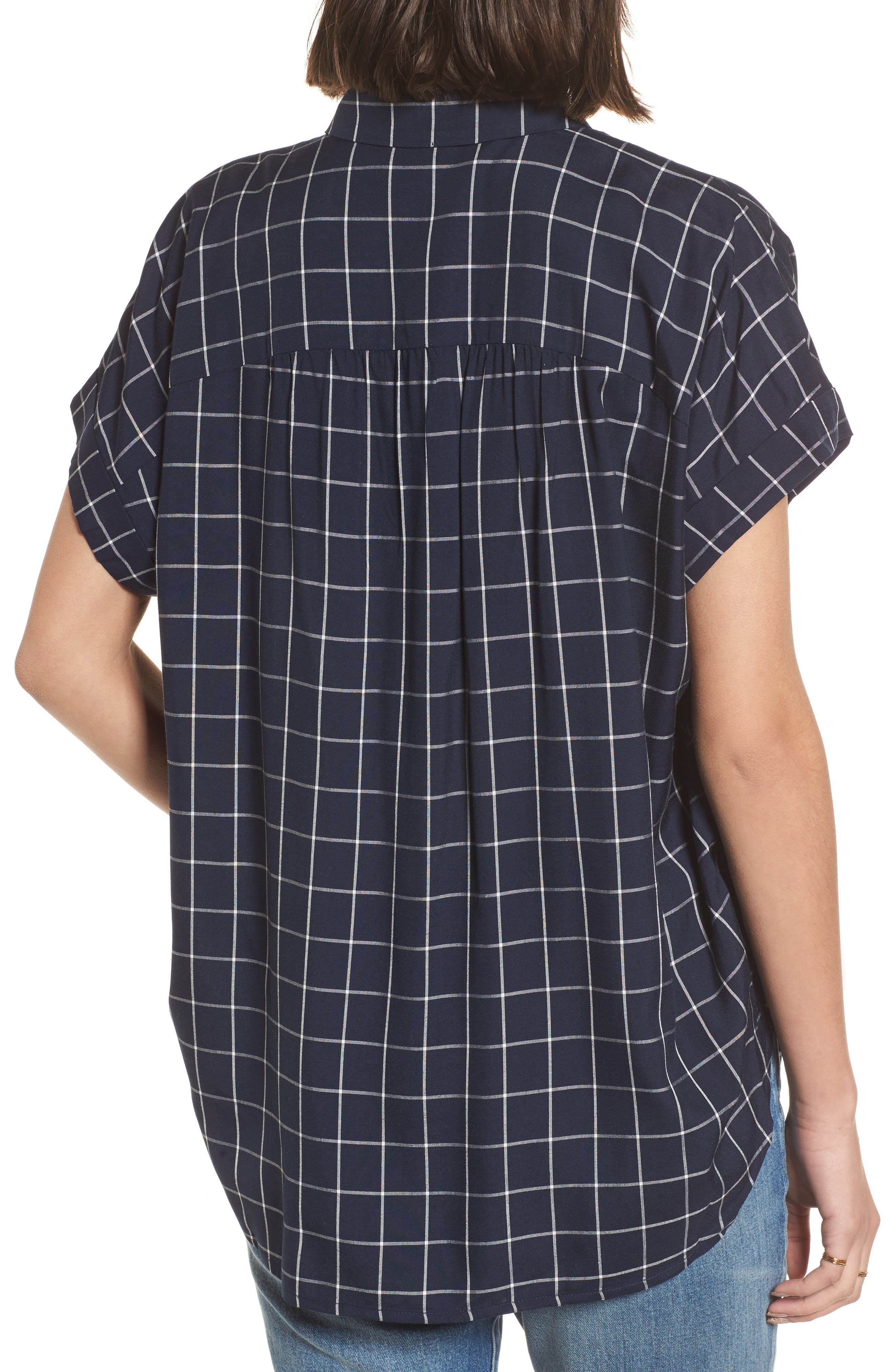 Central Windowpane Check Shirt,                             Alternate thumbnail 2, color,