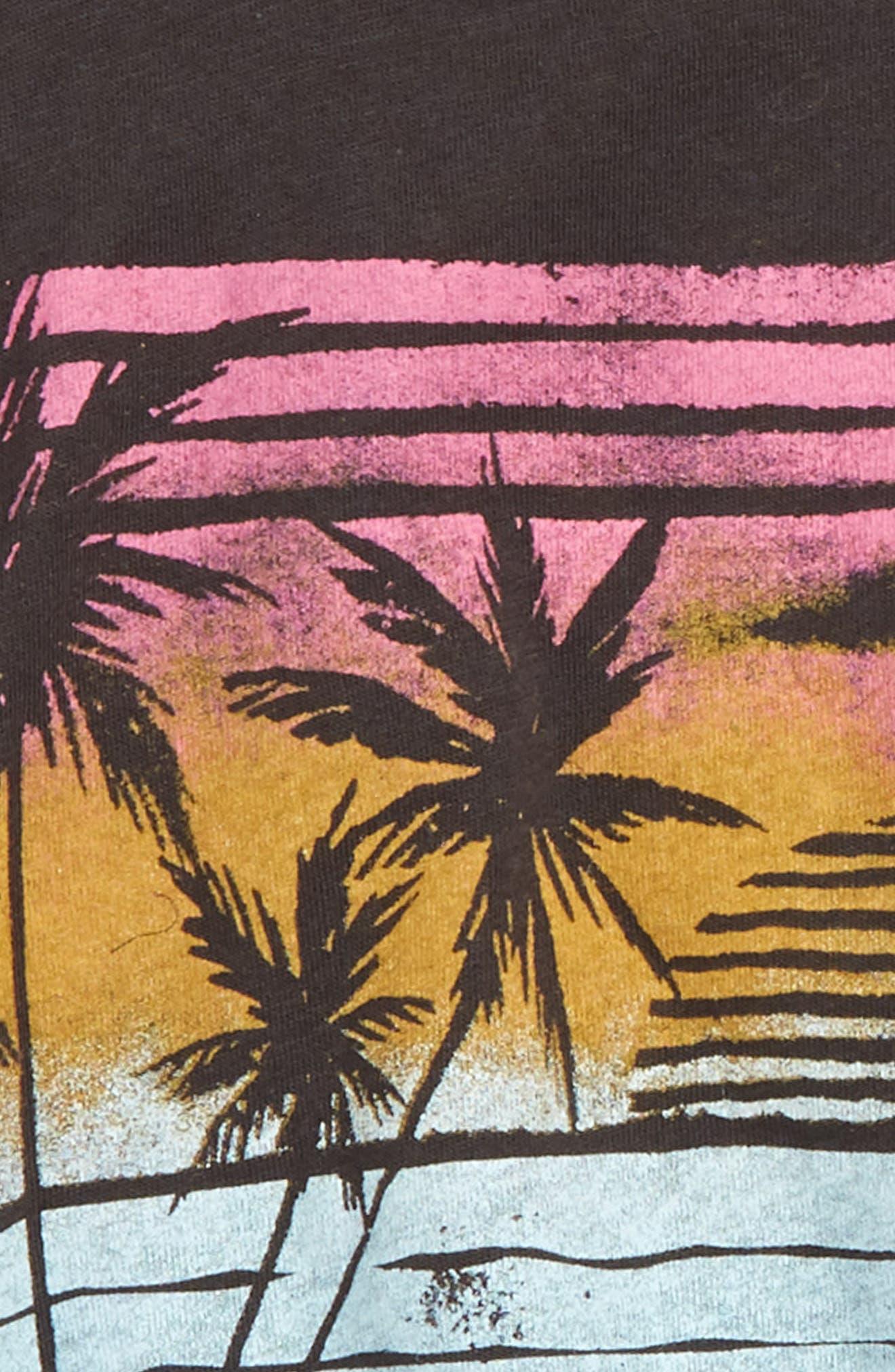 Ocean Breeze Graphic Tank,                             Alternate thumbnail 2, color,                             OFF BLACK
