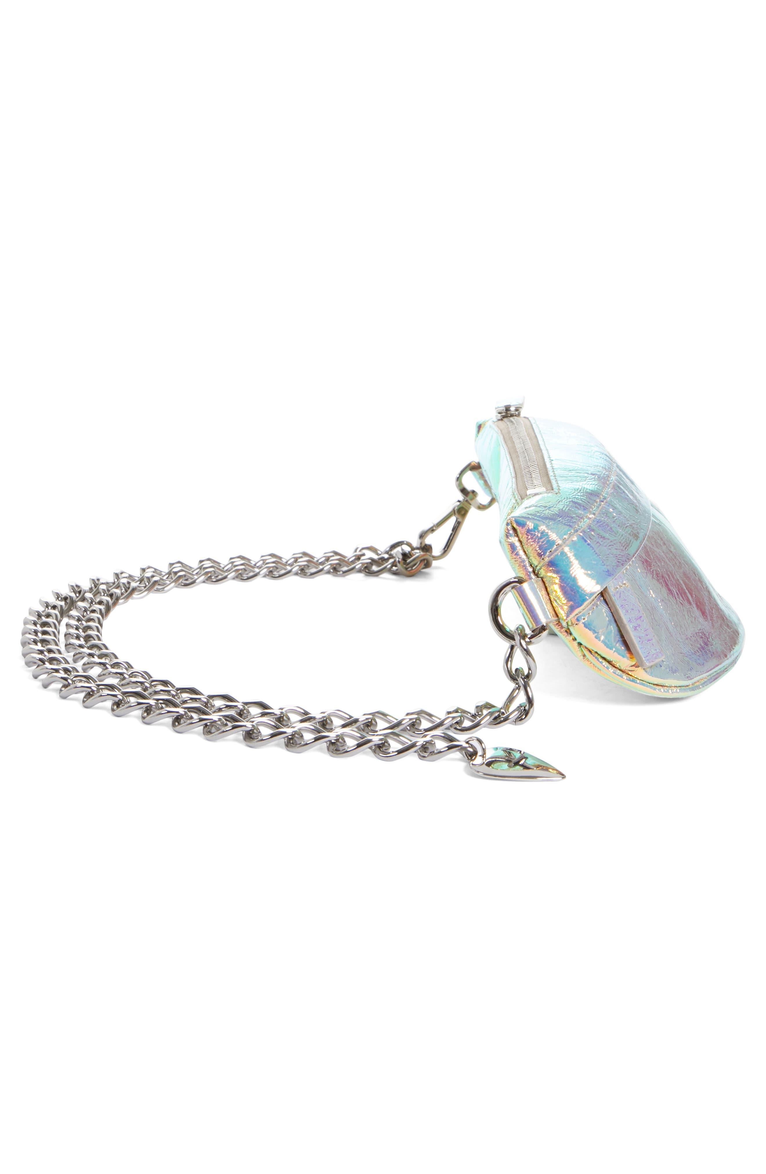 Mini Metallic Troupe Convertible Belt Bag,                             Alternate thumbnail 5, color,                             040