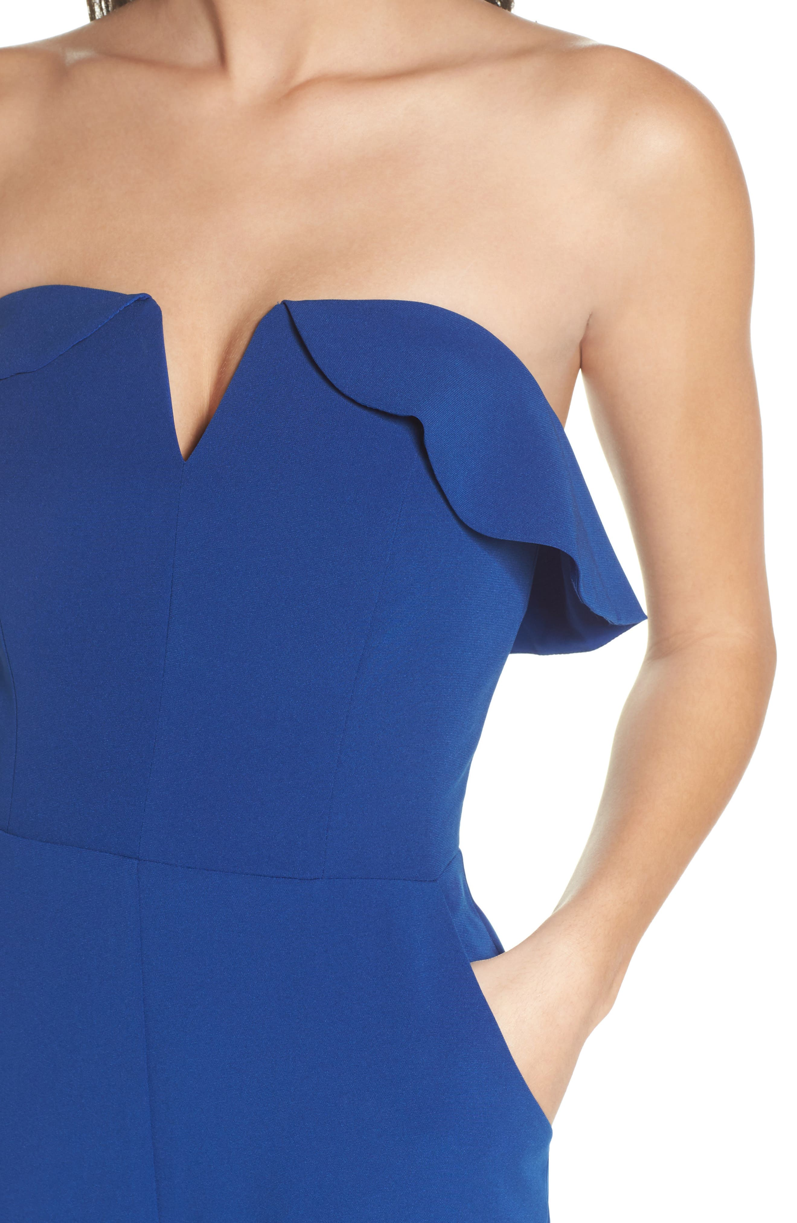 Penny Strapless Jumpsuit,                             Alternate thumbnail 4, color,                             400