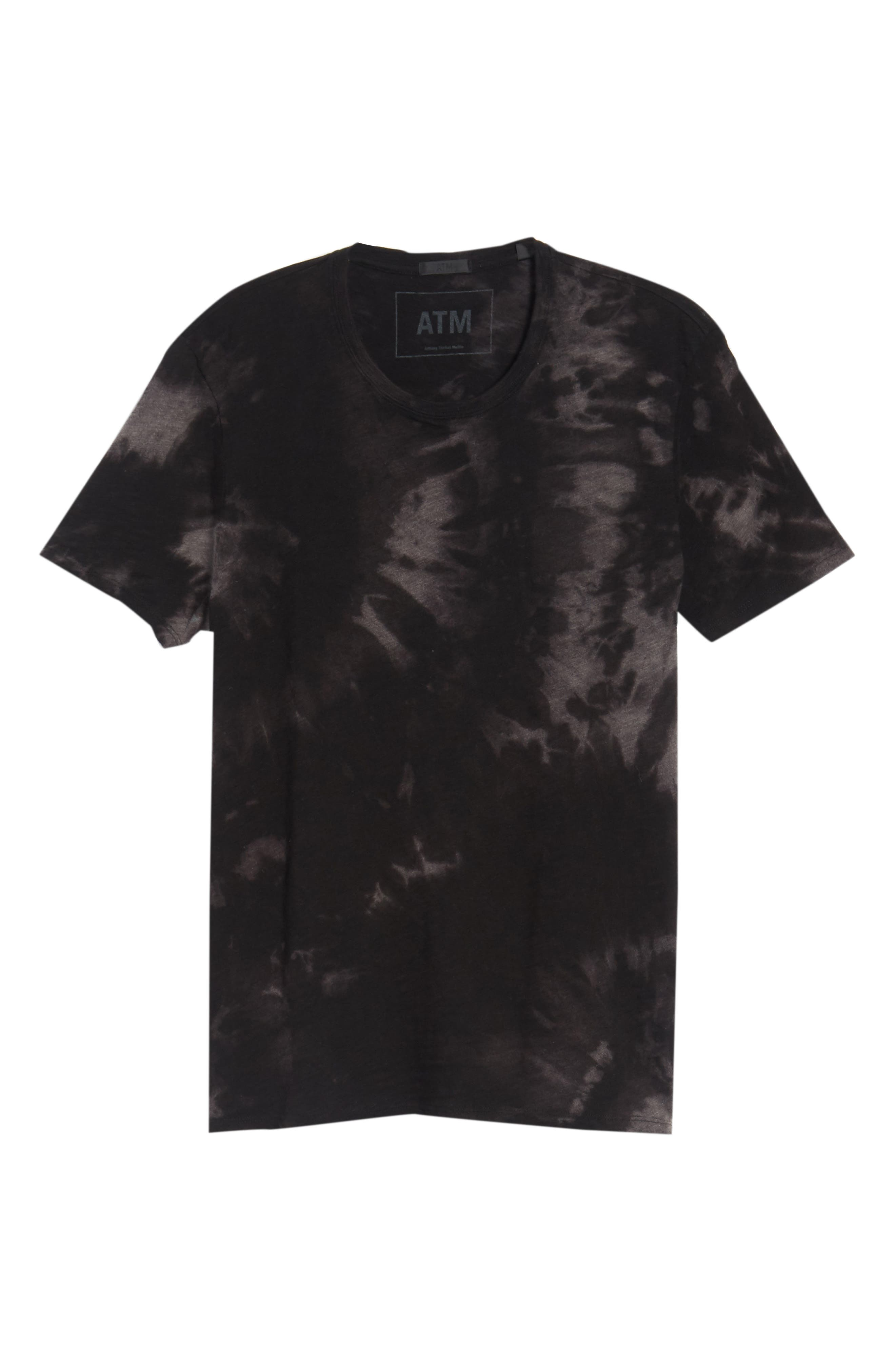 Slub Tie Dye T-Shirt,                             Alternate thumbnail 6, color,                             001