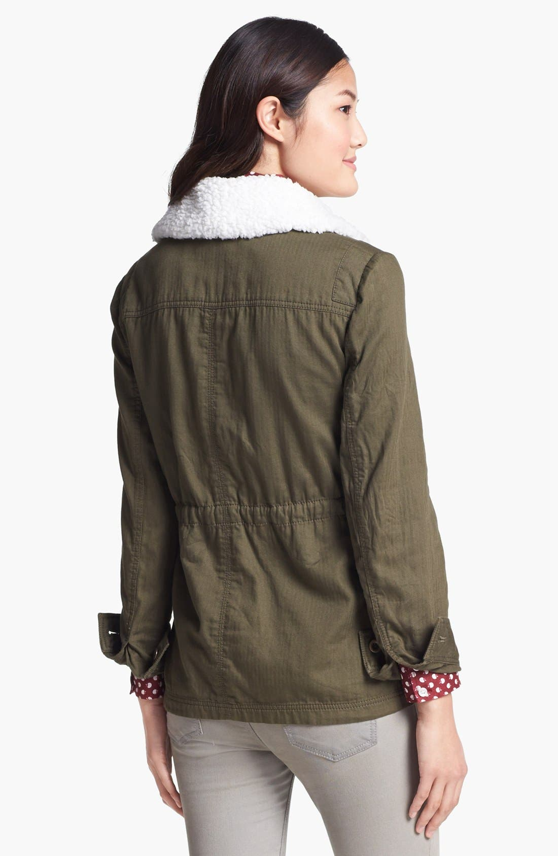 Removable Faux Shearling Collar Utility Jacket,                             Alternate thumbnail 2, color,                             300