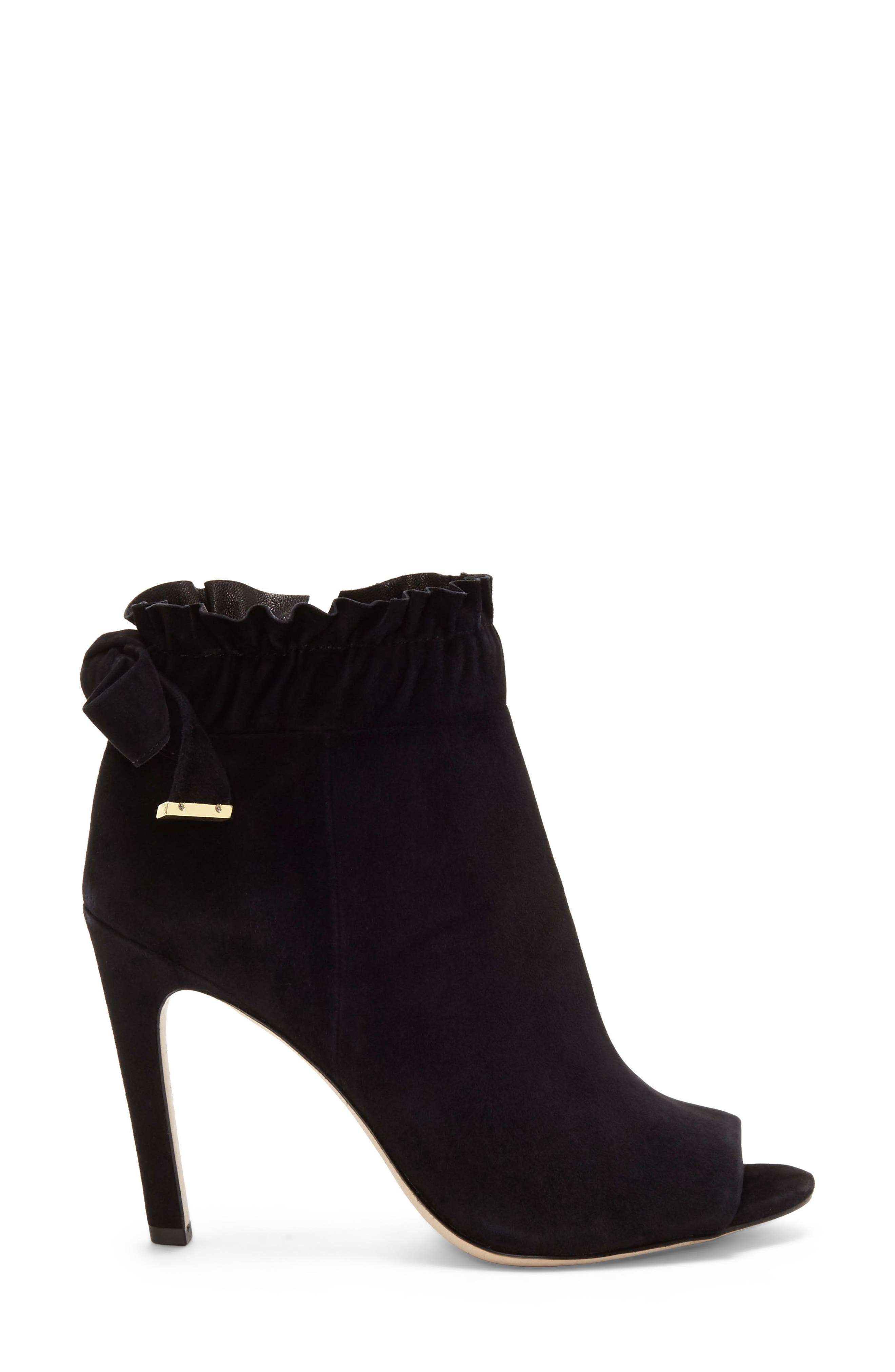 LOUISE ET CIE,                             Innay Peep Toe Bootie,                             Alternate thumbnail 3, color,                             001