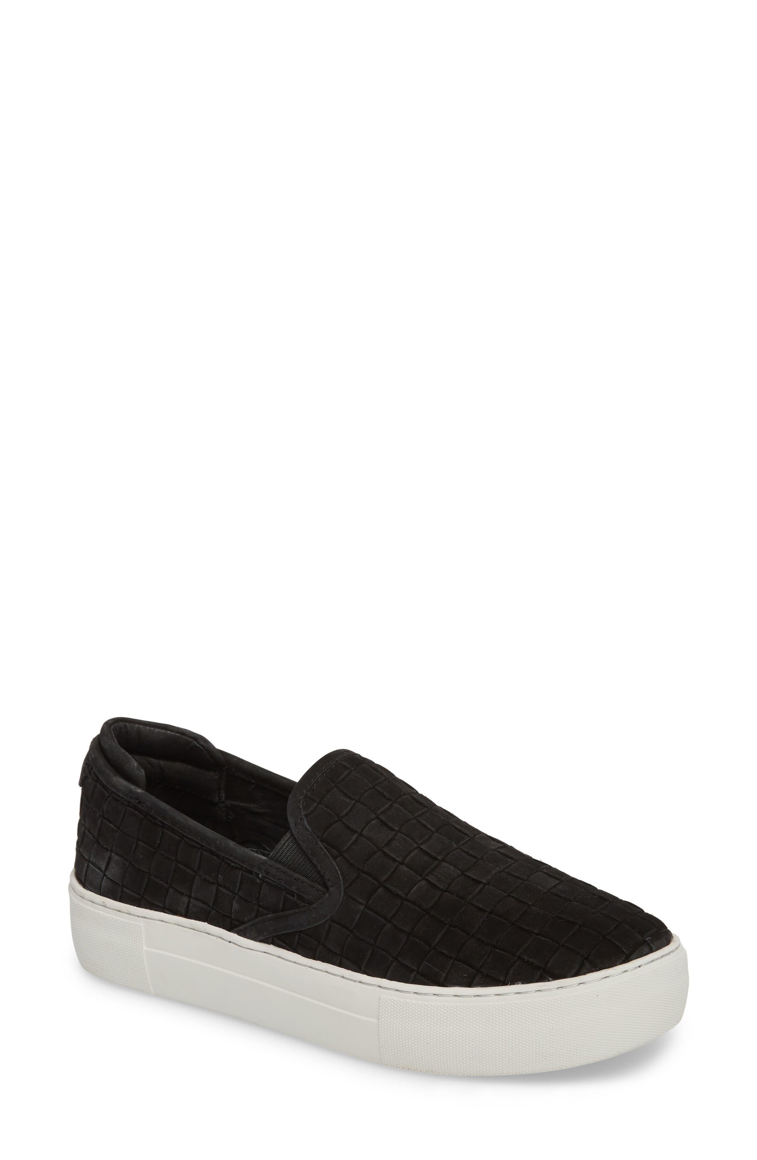 Proper Slip-On Sneaker,                             Main thumbnail 1, color,                             BLACK NUBUCK