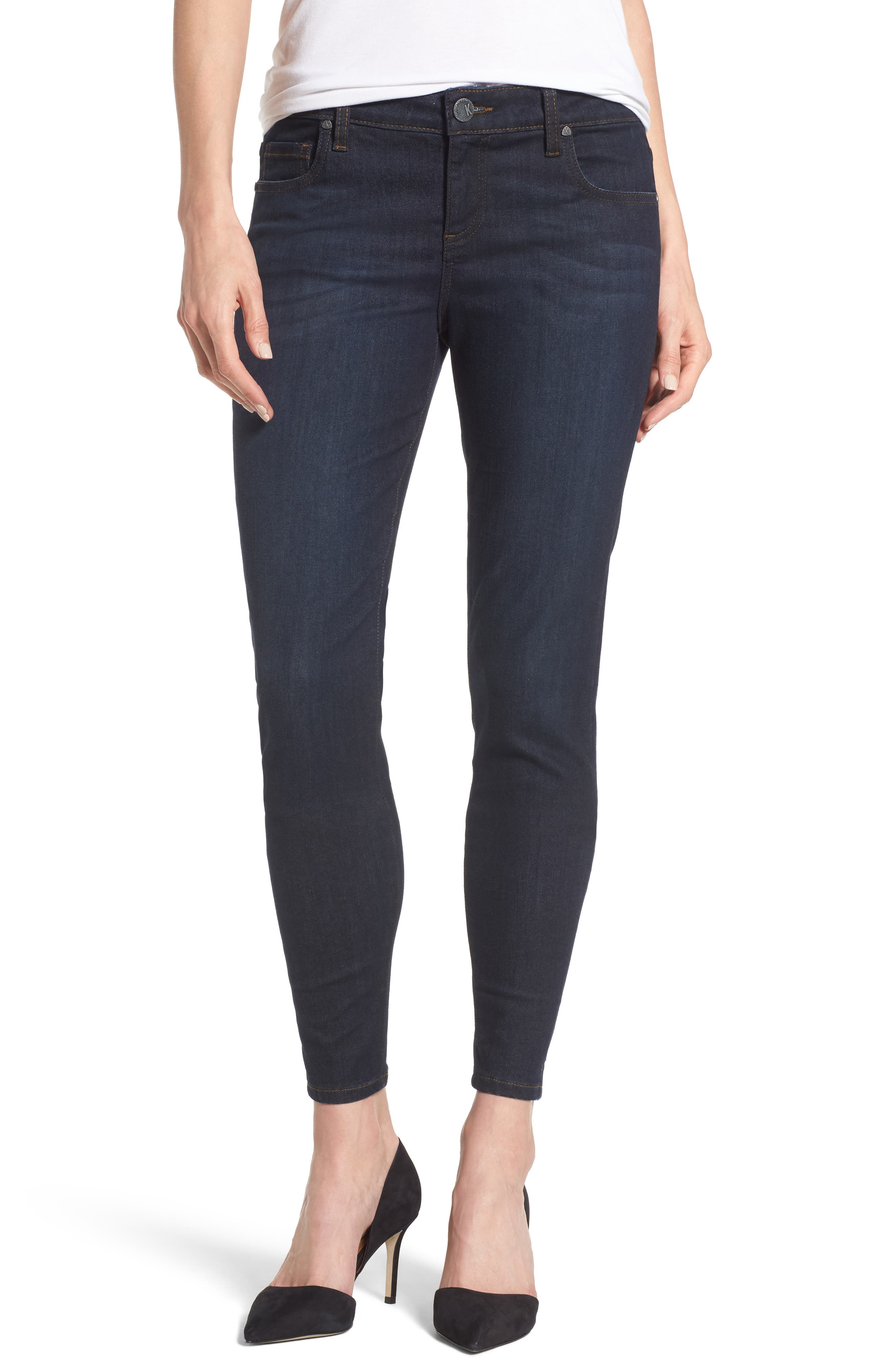 Connie Zip Back Skinny Ankle Jeans,                         Main,                         color, 419
