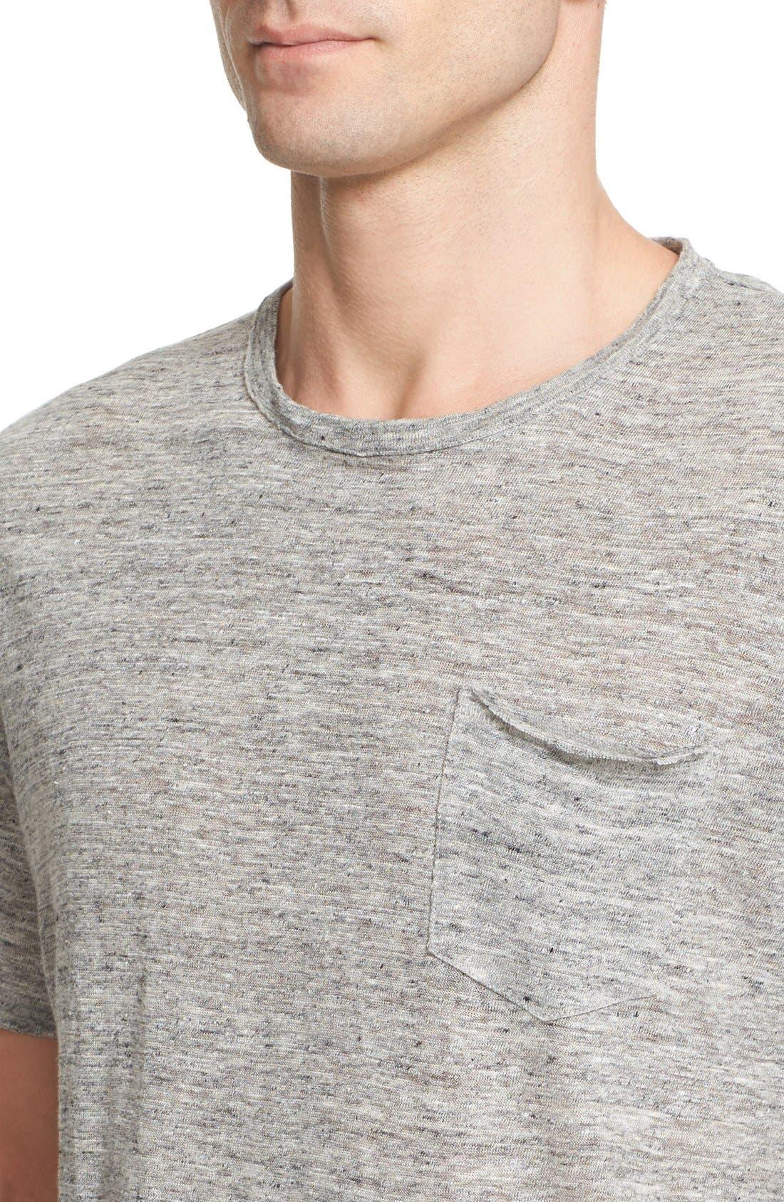 Owen Slub Linen T-Shirt,                             Alternate thumbnail 4, color,                             020