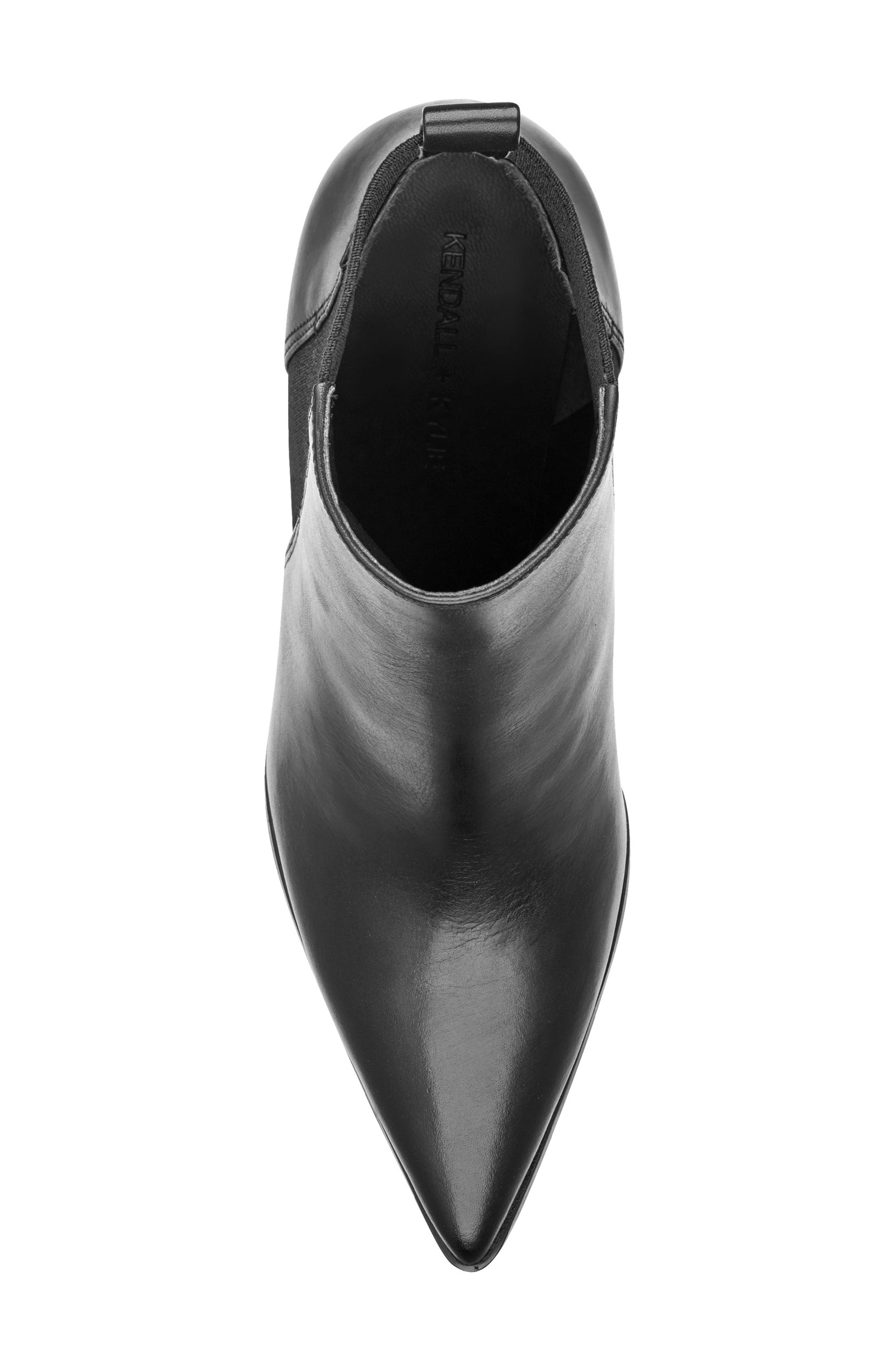 Pointy Toe Chelsea Bootie,                             Alternate thumbnail 5, color,                             001
