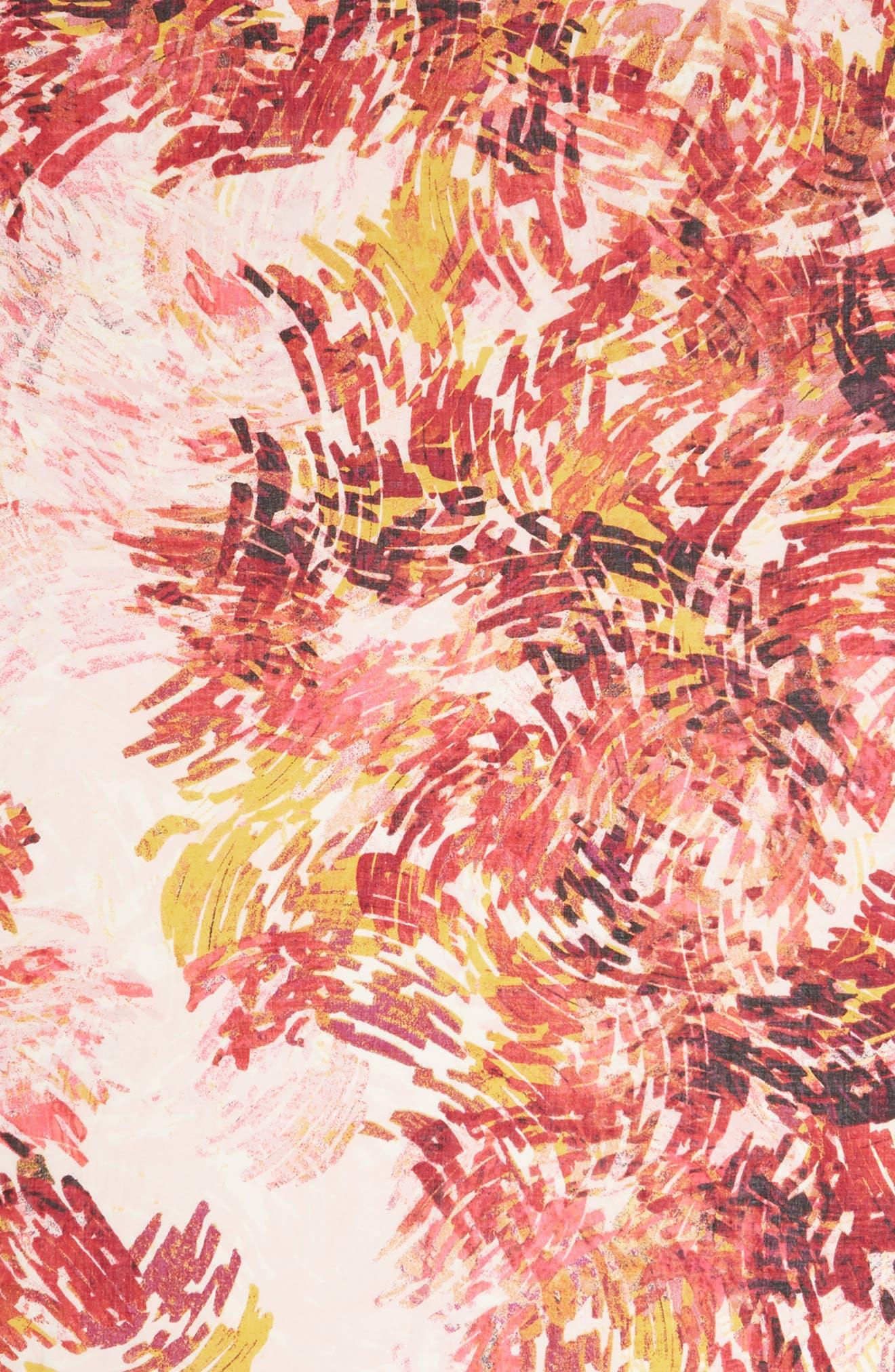 Eyelash Trim Print Cashmere & Silk Wrap,                             Alternate thumbnail 109, color,