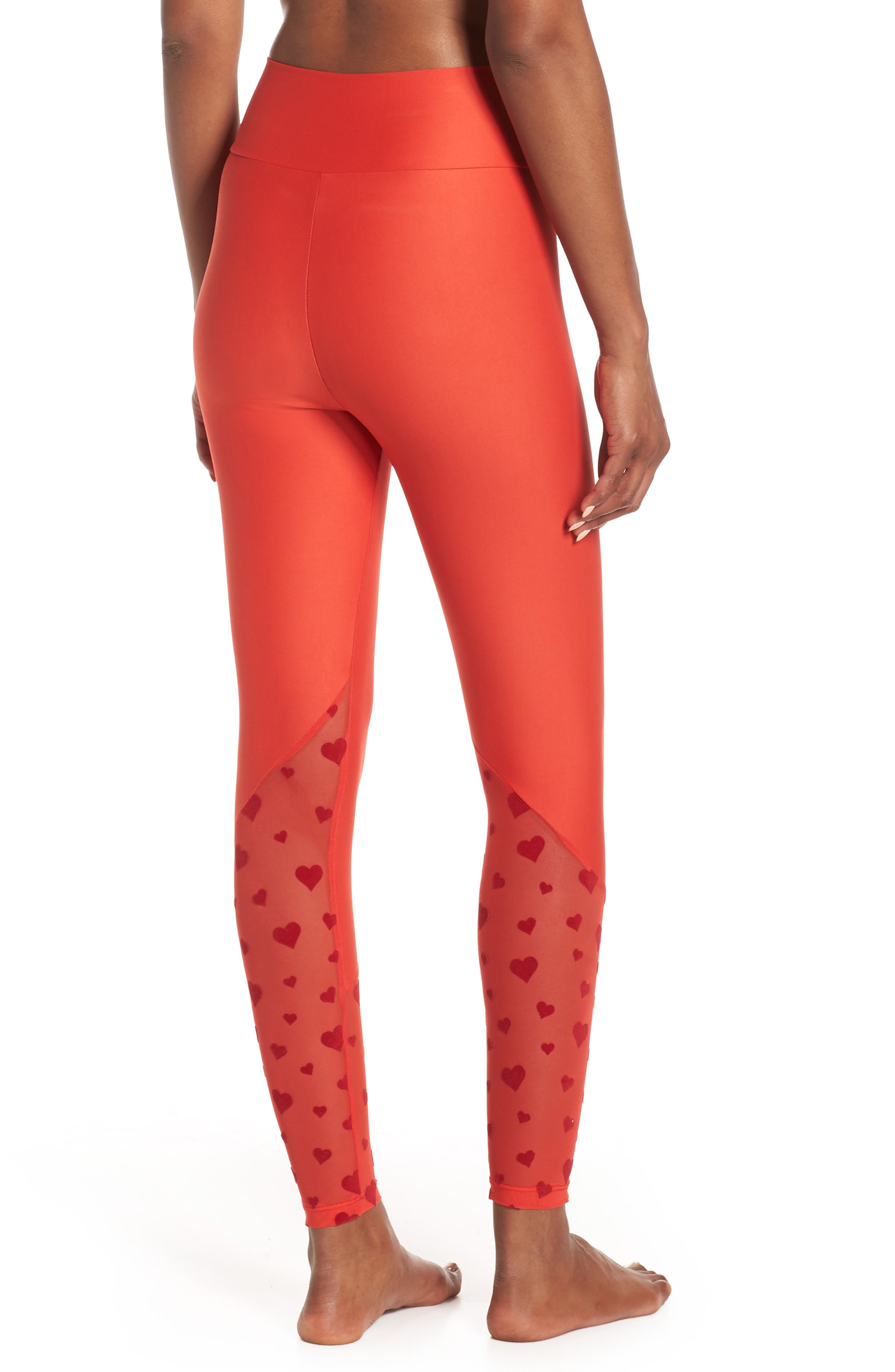 BEACH RIOT,                             Beach Leggings,                             Alternate thumbnail 2, color,                             RED HEART