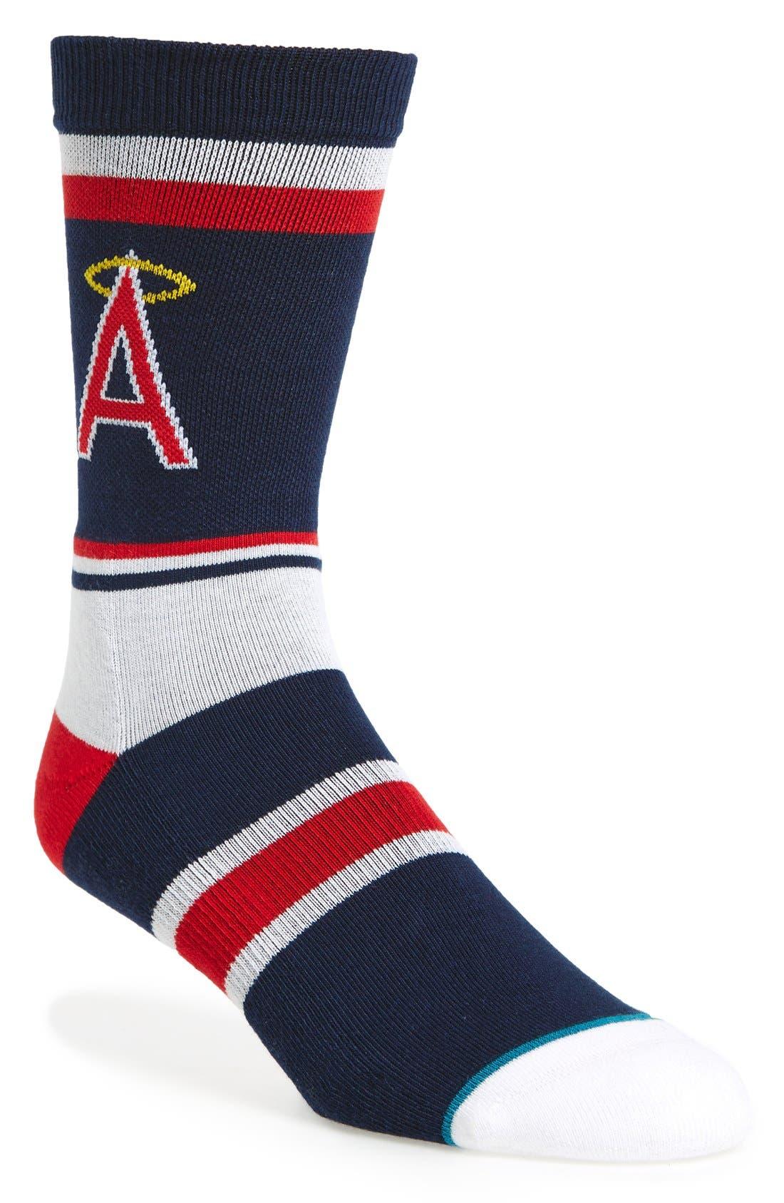 MLB Retro California Angels Crew Socks,                         Main,                         color, 410