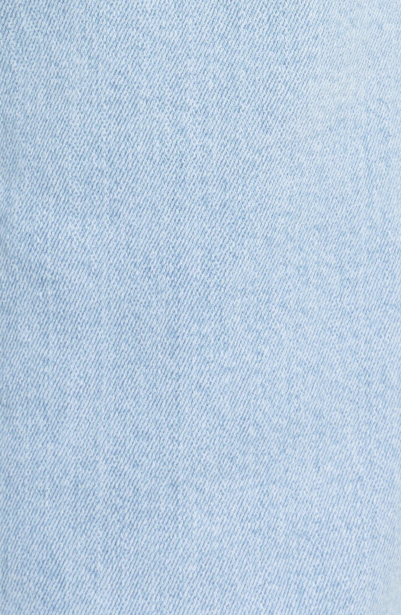 Edie High Waist Crop Straight Leg Jeans,                             Alternate thumbnail 6, color,                             400